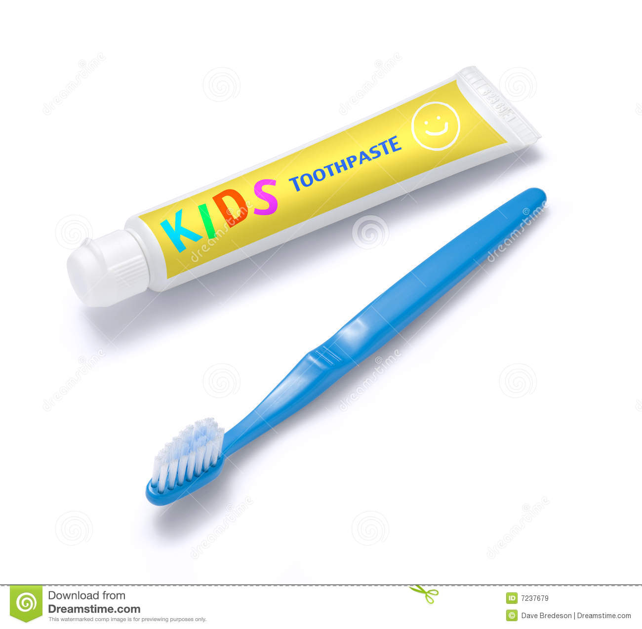 Kids Toothpaste And Toothbrush Stock Image - Image: 7237679