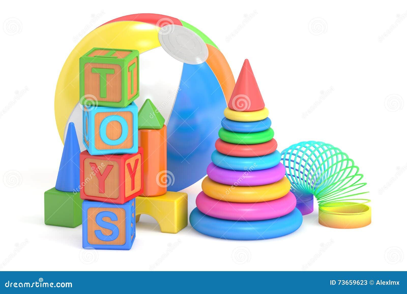Kids toys concept, 3D rendering