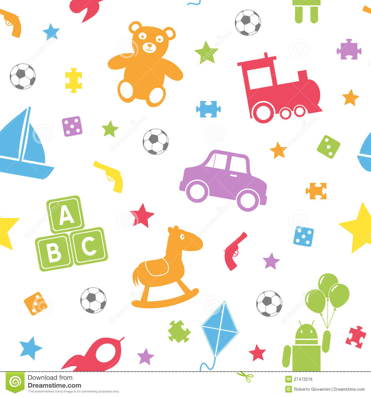 Animal Print Wallpaper For Bedroom Kids Toys Seamless Pattern 1 Royalty Free Stock Image