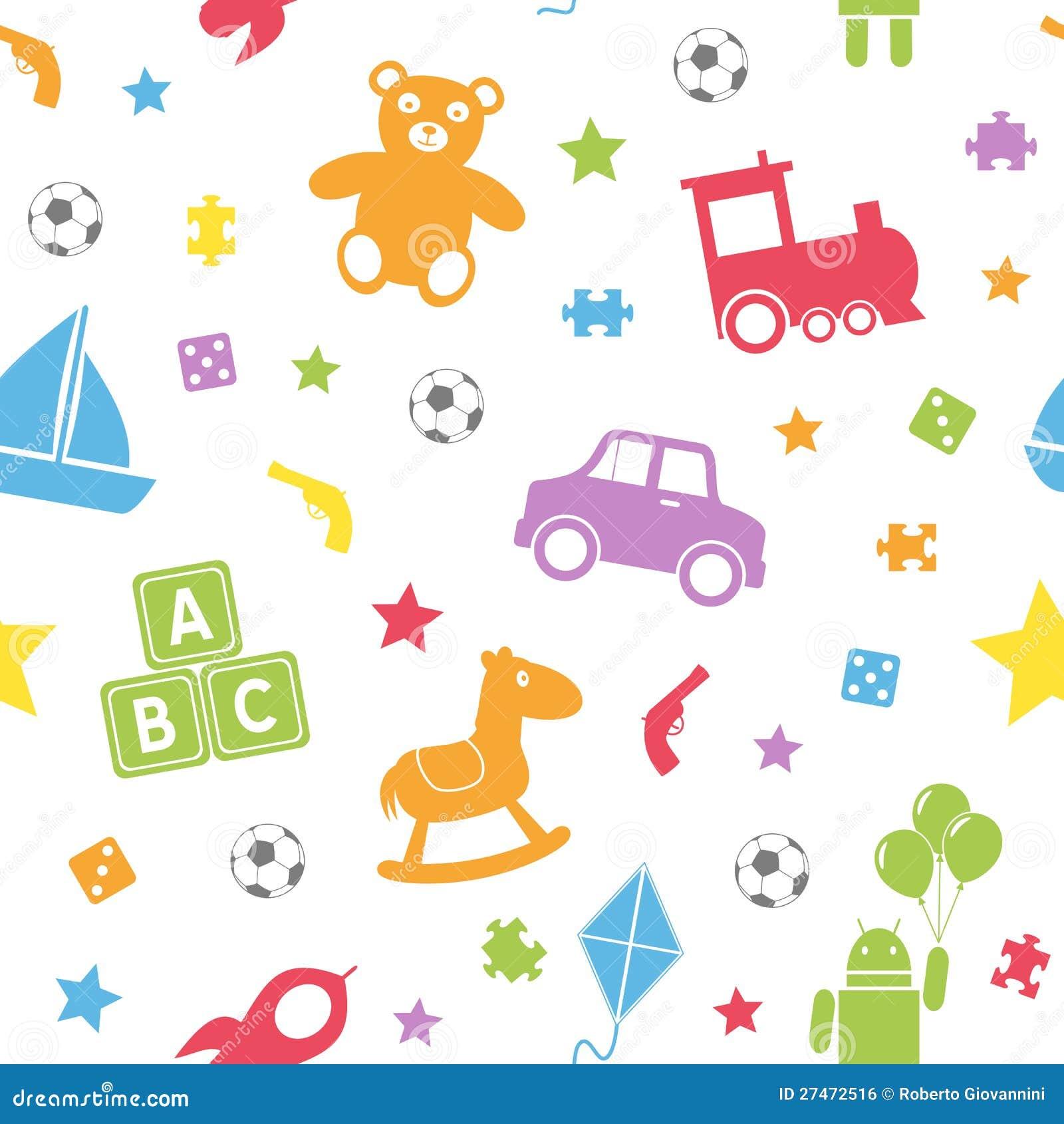 Kids Toys Seamless Pattern [1]