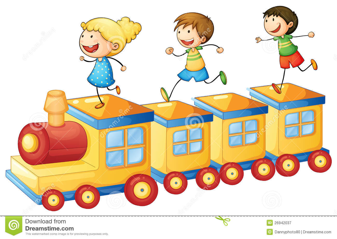 Kids On Train Royalty Free Stock Photography - Image: 26942037