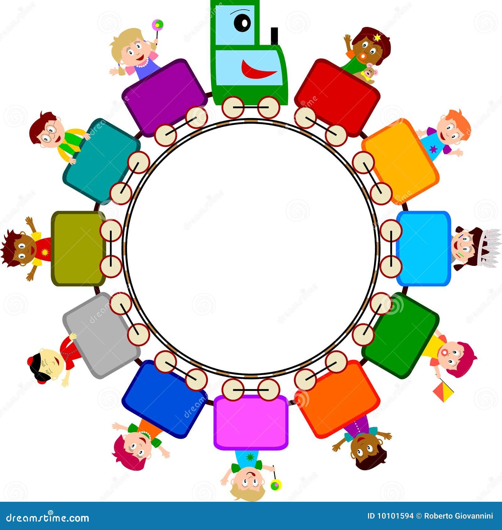 Kids On Train Logo Stock Images - Image: 10101594