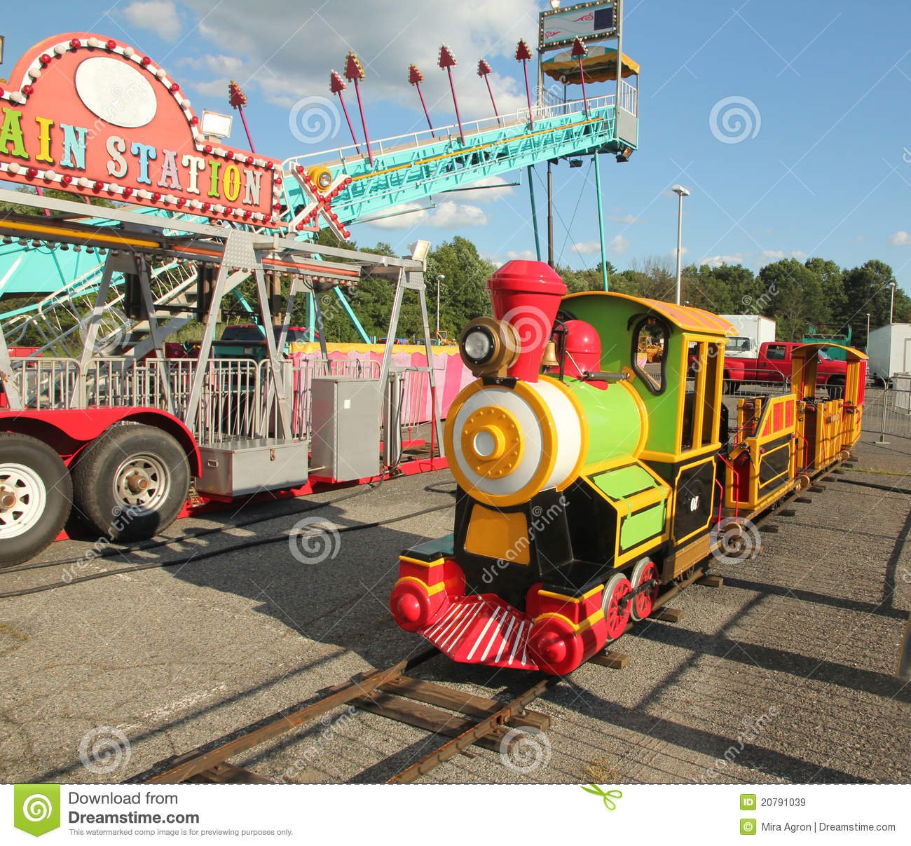 kids train ride editorial stock image image 20791039