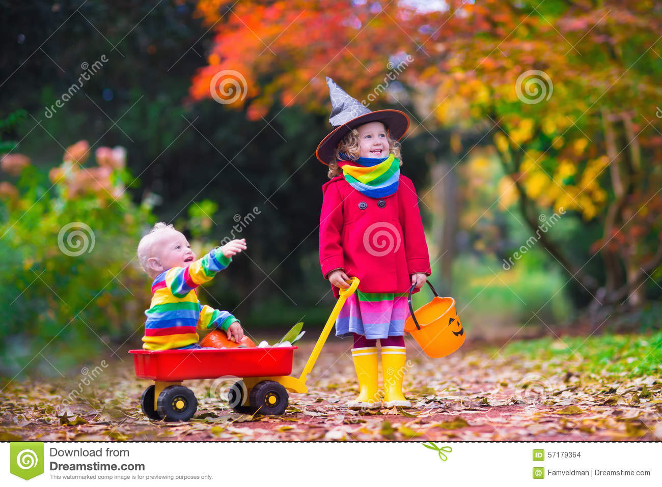 Baby Boy Gifts Halloween : Kids trick or treating at halloween stock photo image