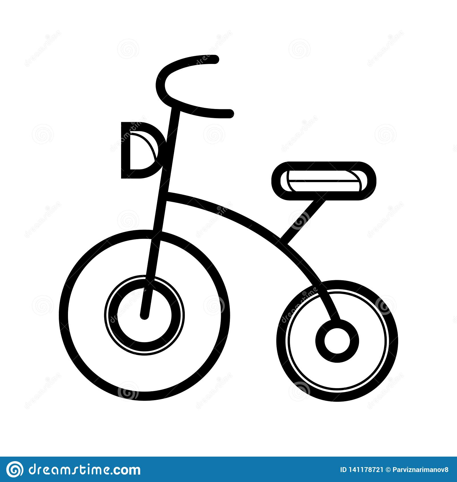 Kids tricycle icon