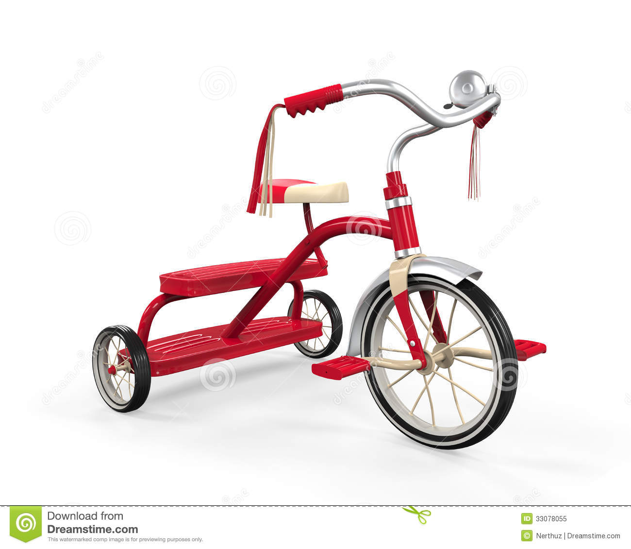 Kids Tricycle Isolated Stock Illustration Illustration Of Ride 33078055