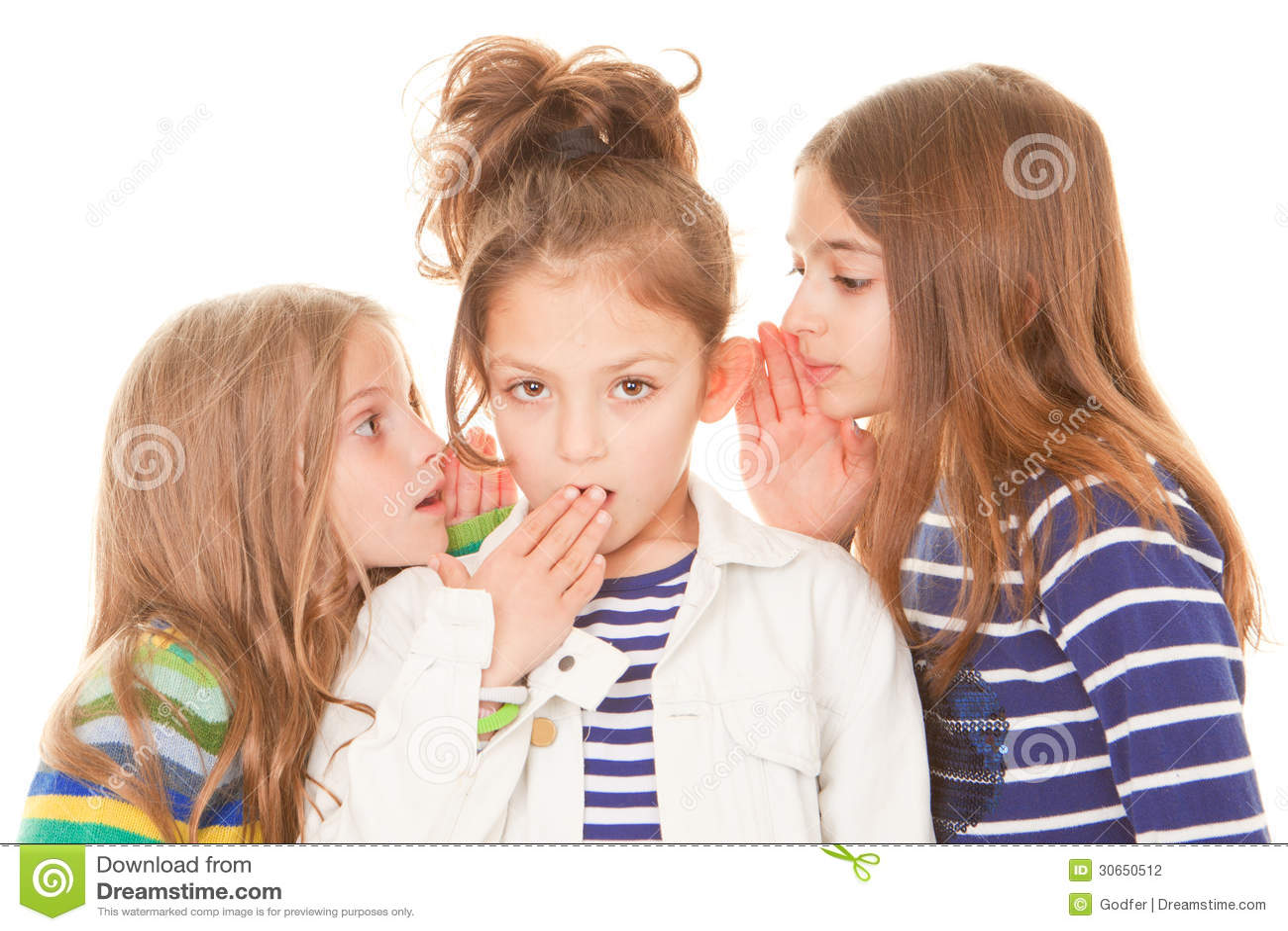 Kids Whispering Bad News Stock Photography - Image: 30650512