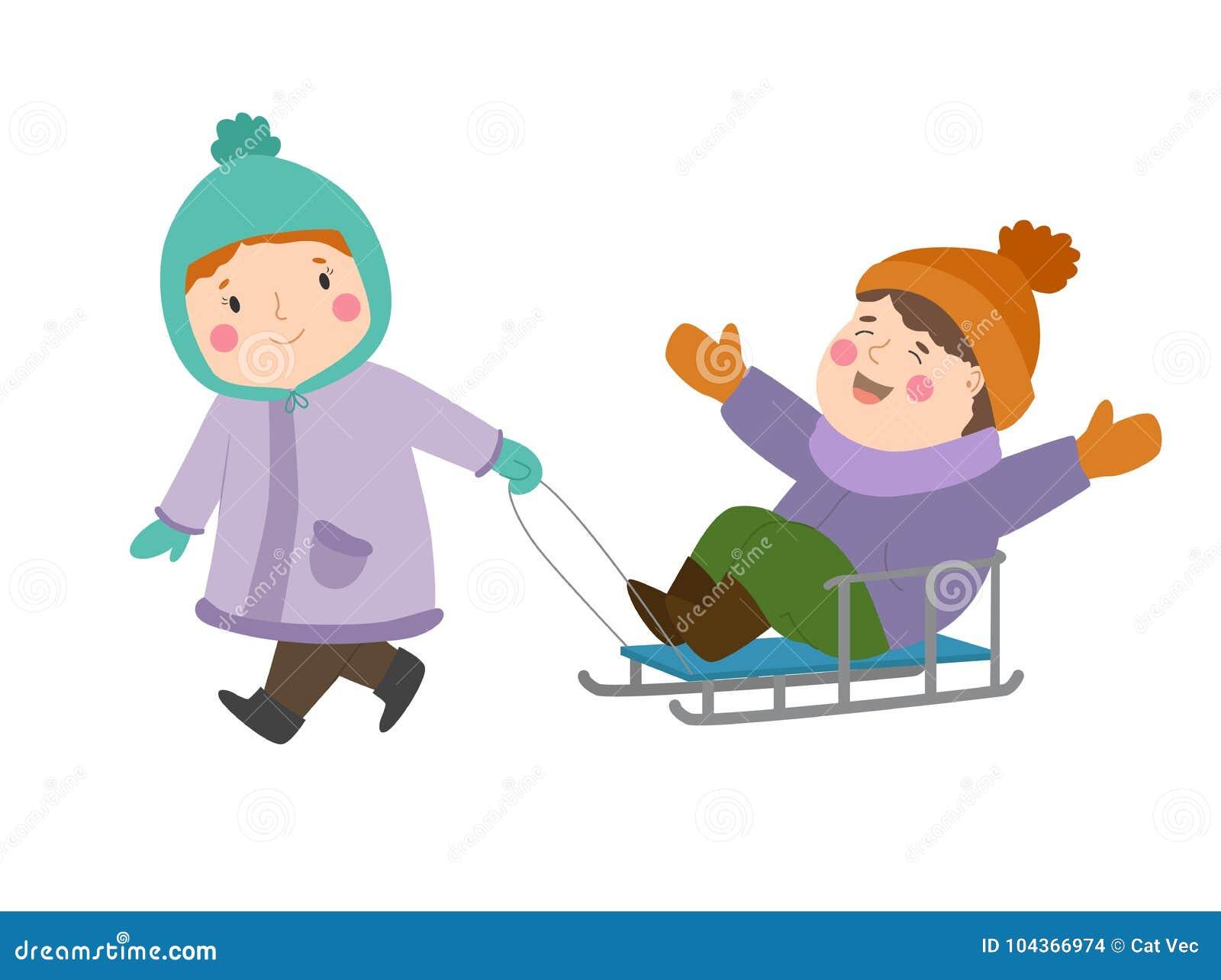 Kids Winter Christmas Games Playground Children Playing Sport Games ...