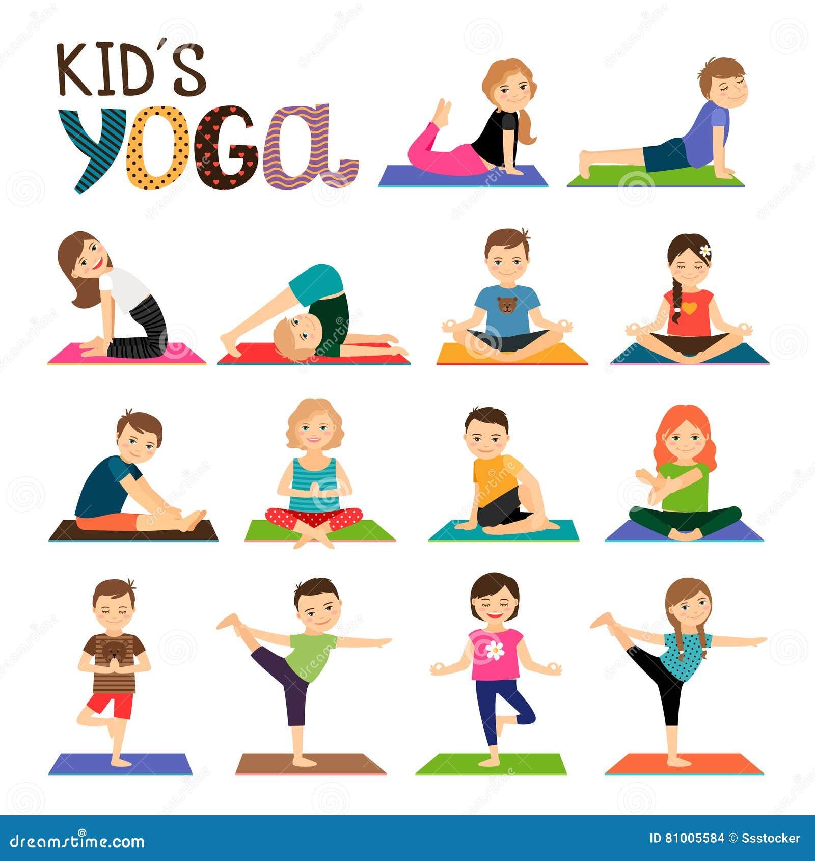 Yoga Kids Stock Illustrations – 44,4450 Yoga Kids Stock