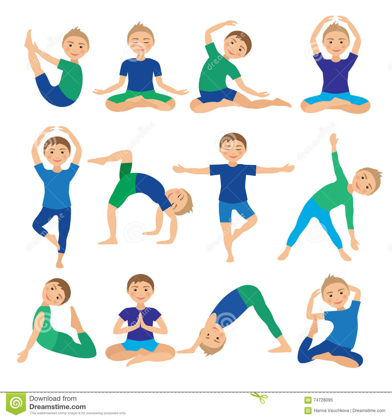 Free Yoga Poses Pictures For Kids