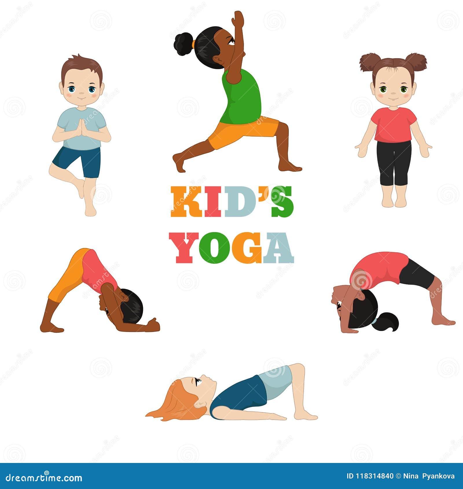 Kids Doing Yoga Stock Vector Illustration Of Baby 118314840