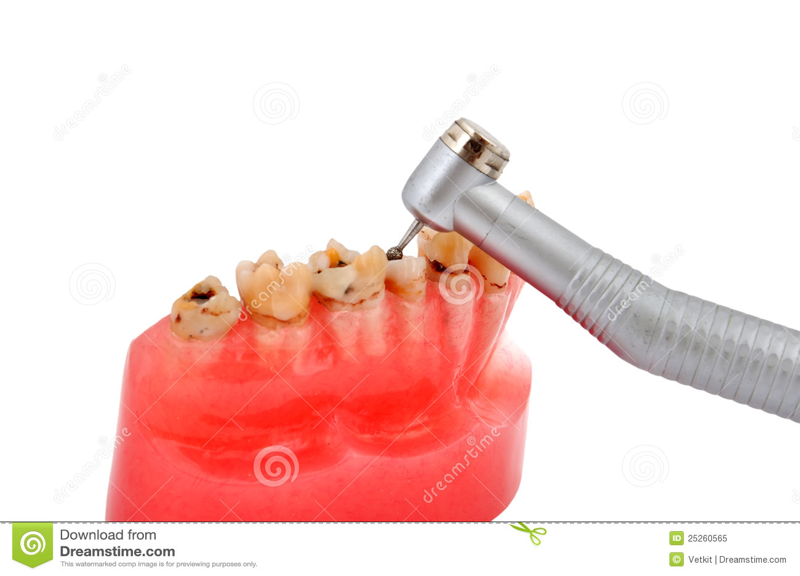 Kiefer und zahnmedizinisches handpiece
