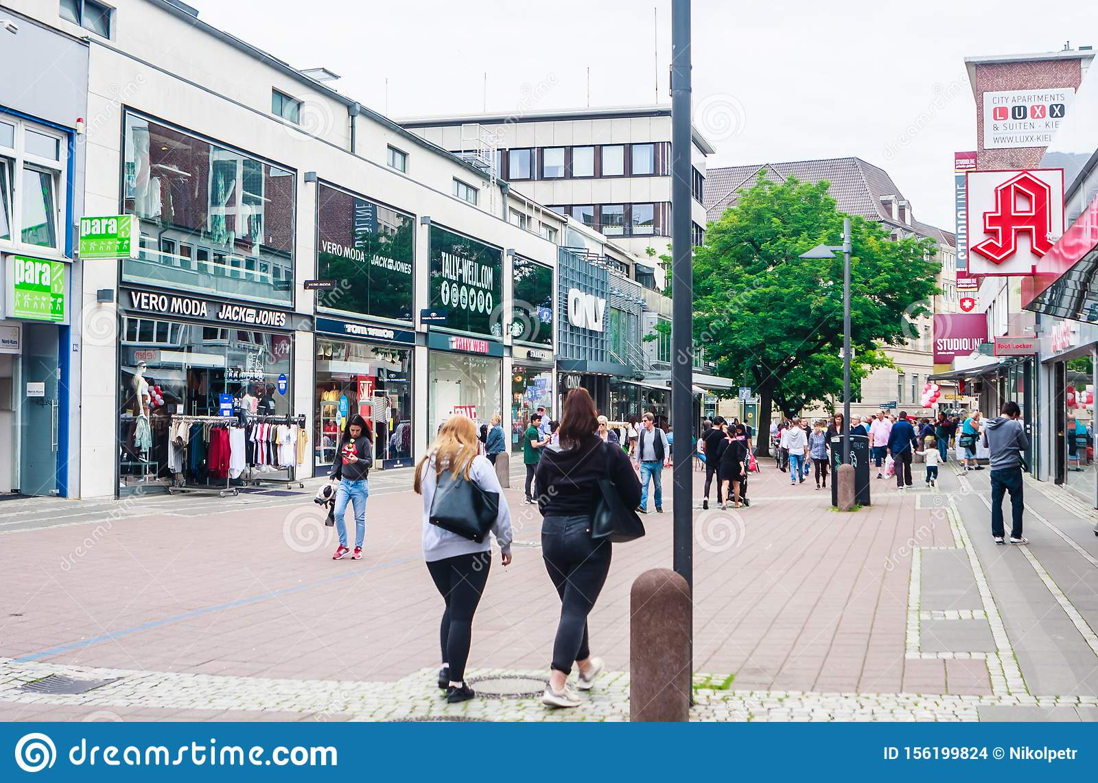 View Of Kiel City Centre And Main Shopping Precinct Schleswig Holstein Germany Editorial Stock Image Image Of Precinct Mysterious 156199824