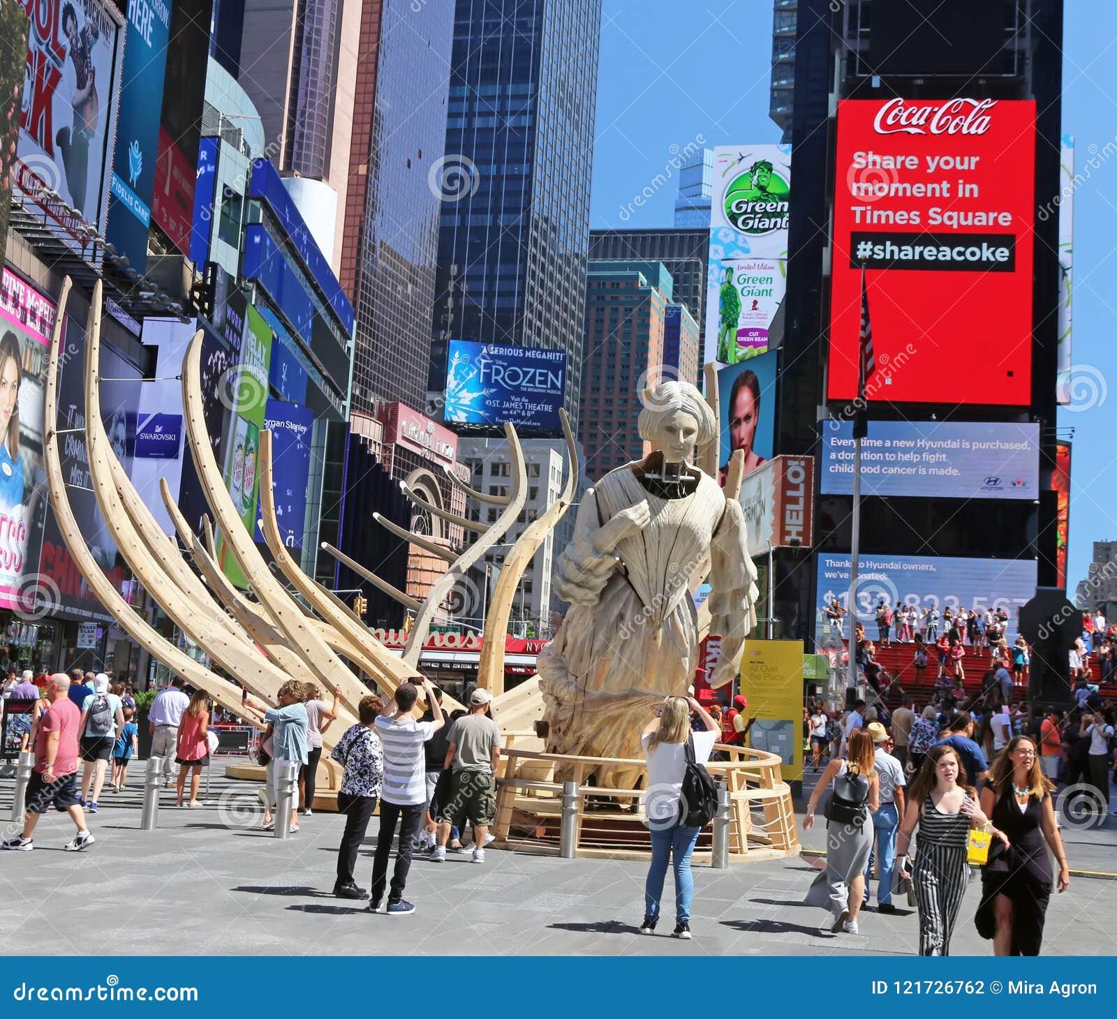 Kielzog in Times Square