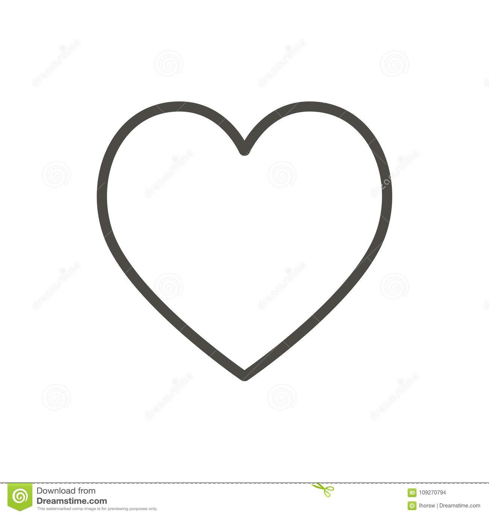 Kierowa ikona, kreskowy wektor Kontur miłości symbol