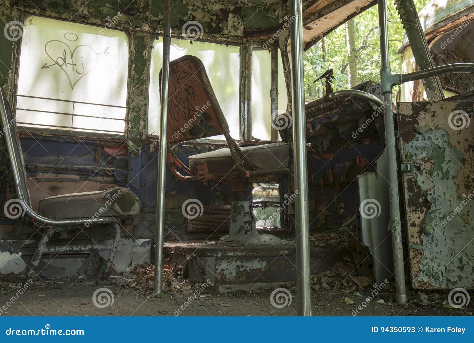 Kierowców siedzenia zaniechany tramwaju samochód