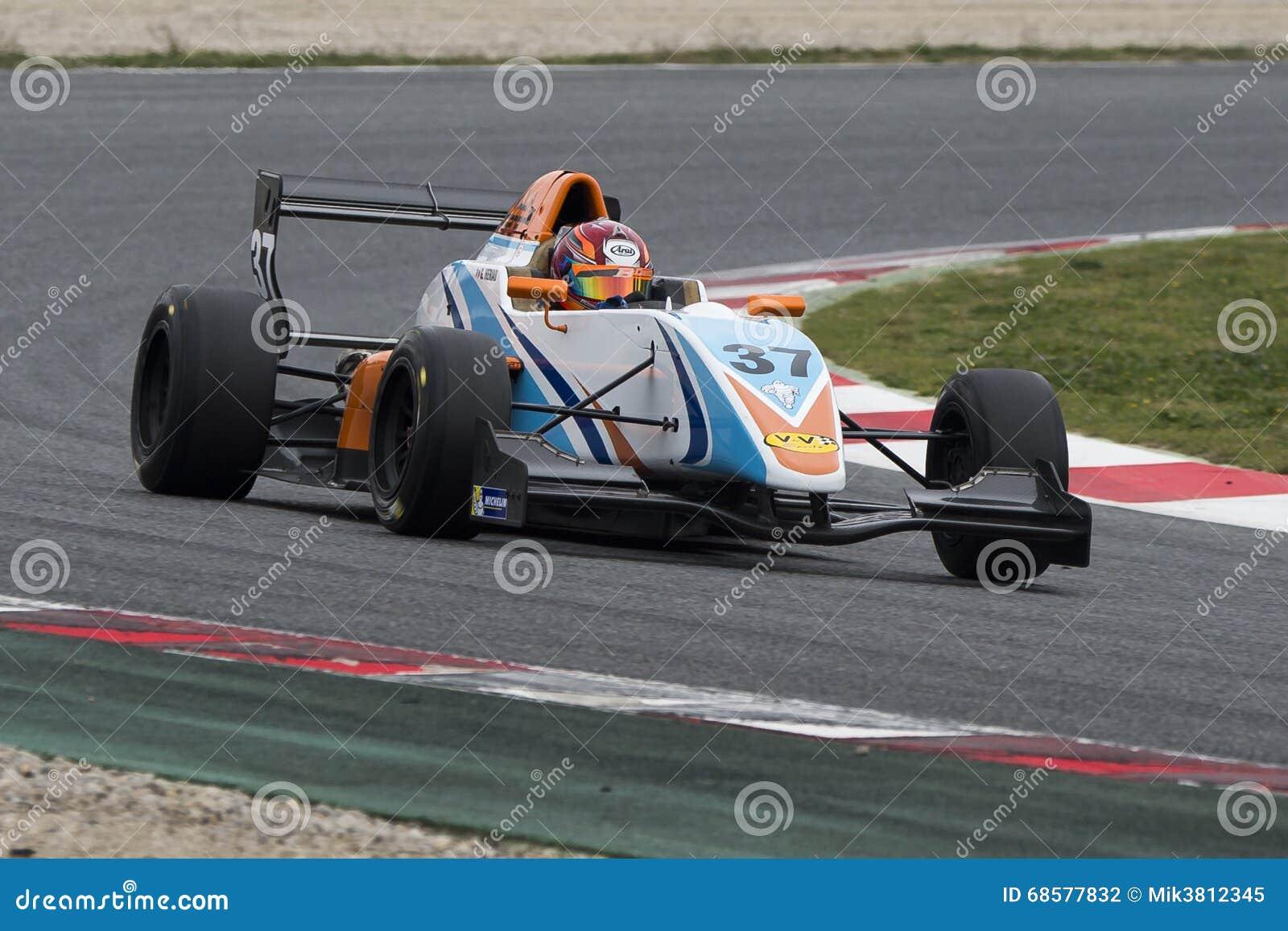 Kierowca Eriau Gilles Wyzwanie formuła