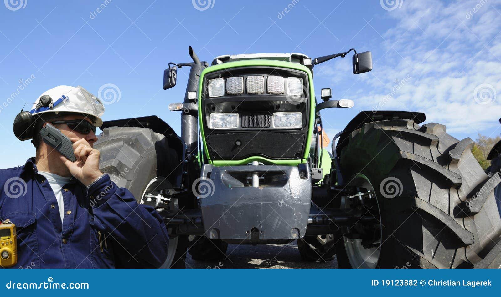 Kierowcy ciągnika ciężarówka