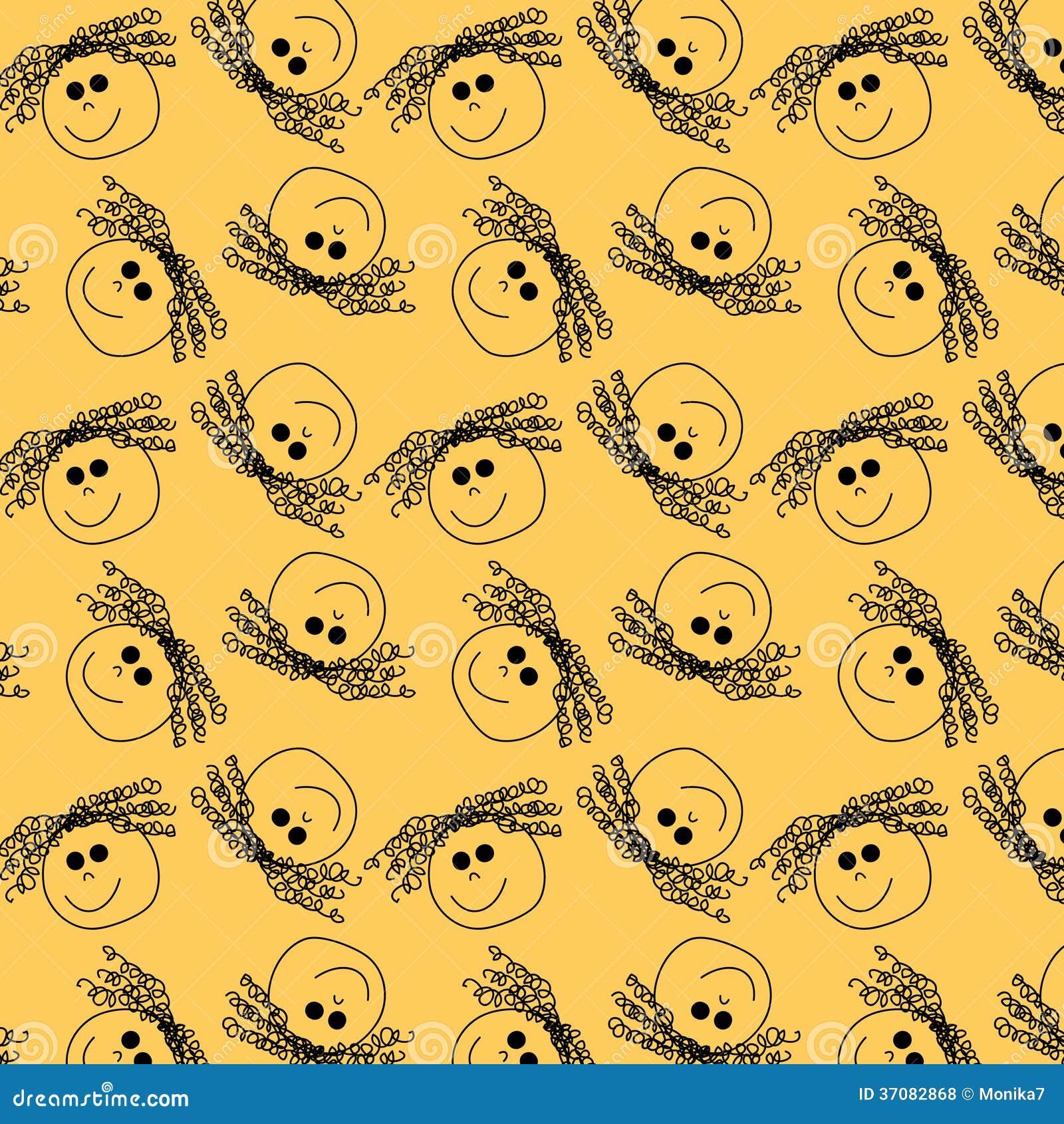 Download Kierowniczy bezszwowy wzór ilustracji. Ilustracja złożonej z hairball - 37082868