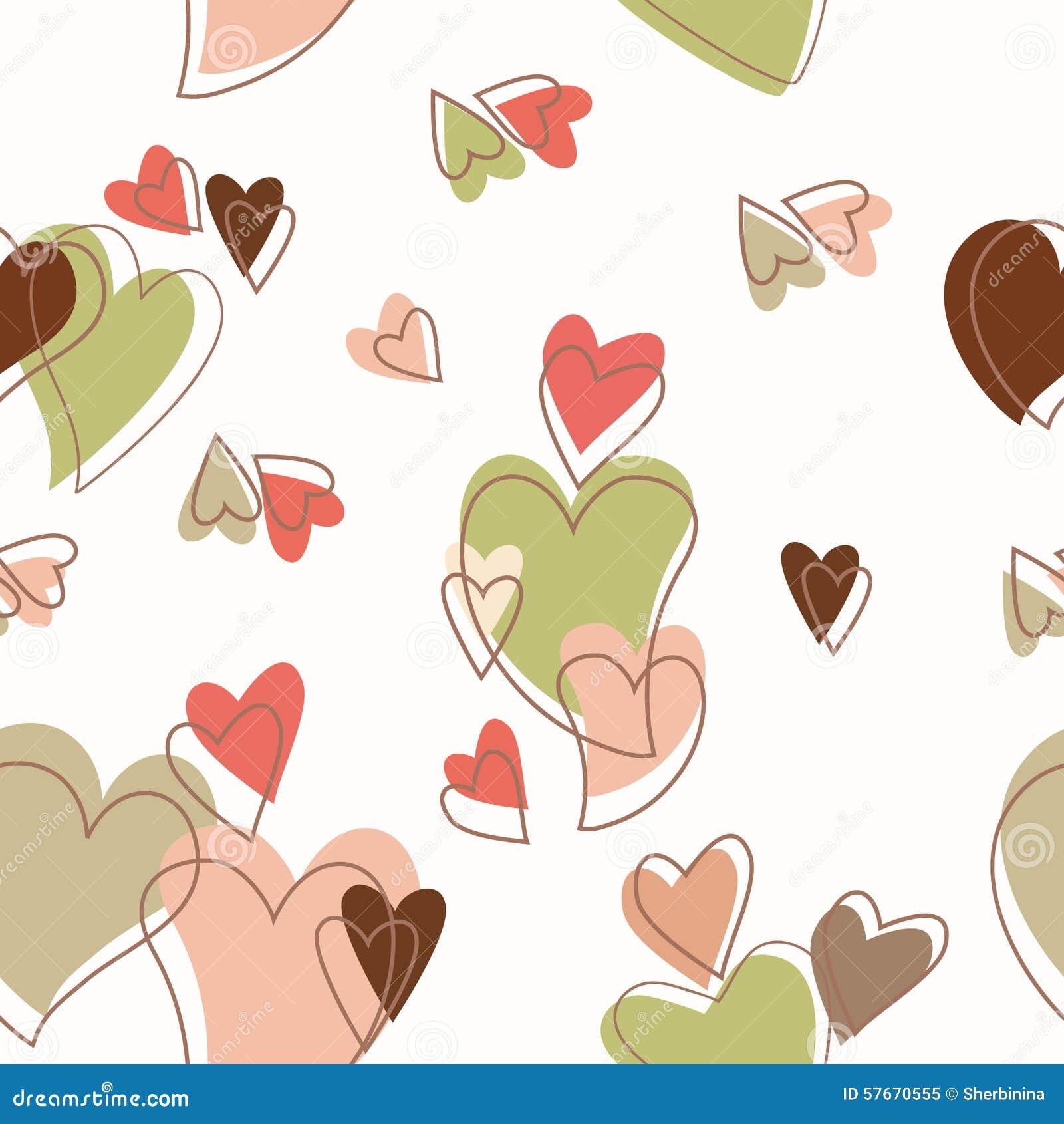 Kierowy słodki miłość dnia wzór