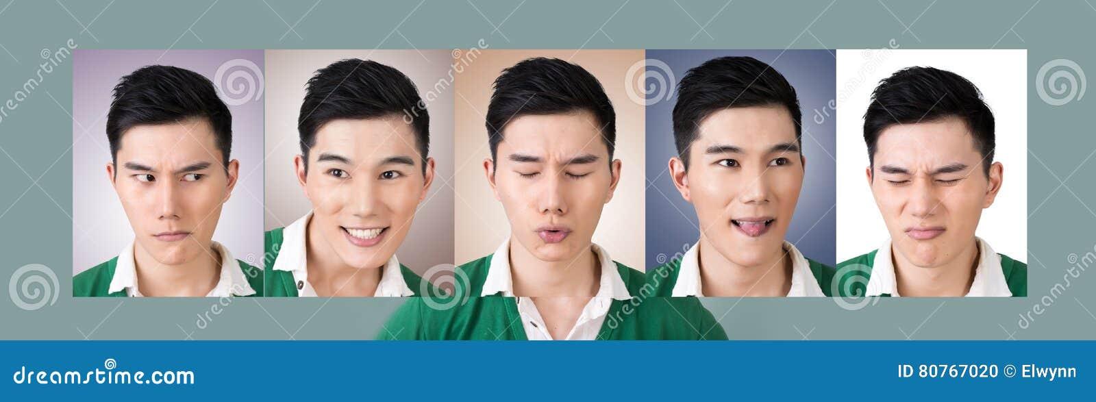 Kies een uitdrukking van gezicht