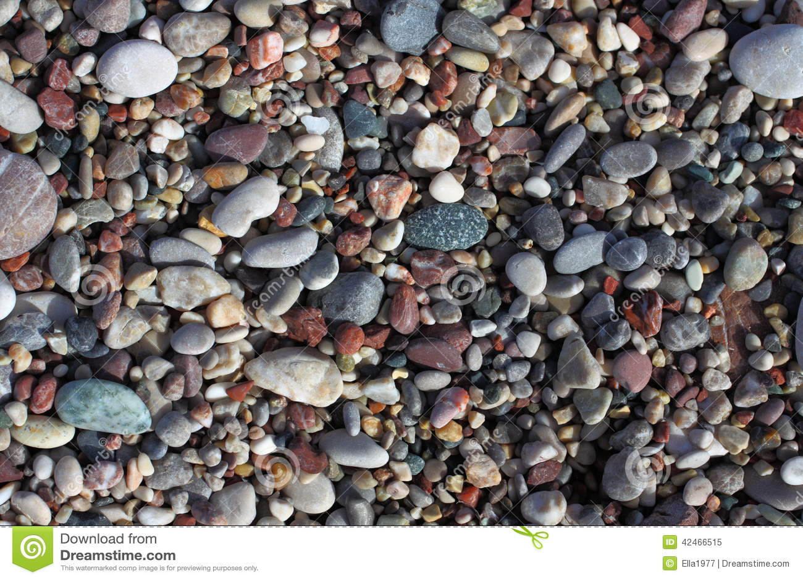 Kiesel auf dem Strand