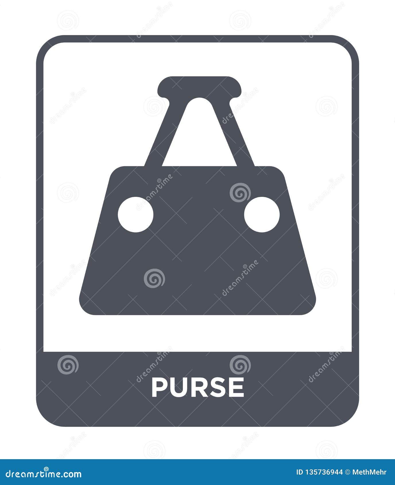 Kiesy ikona w modnym projekta stylu Kiesy ikona odizolowywająca na białym tle kiesy wektorowej ikony prosty i nowożytny płaski sy