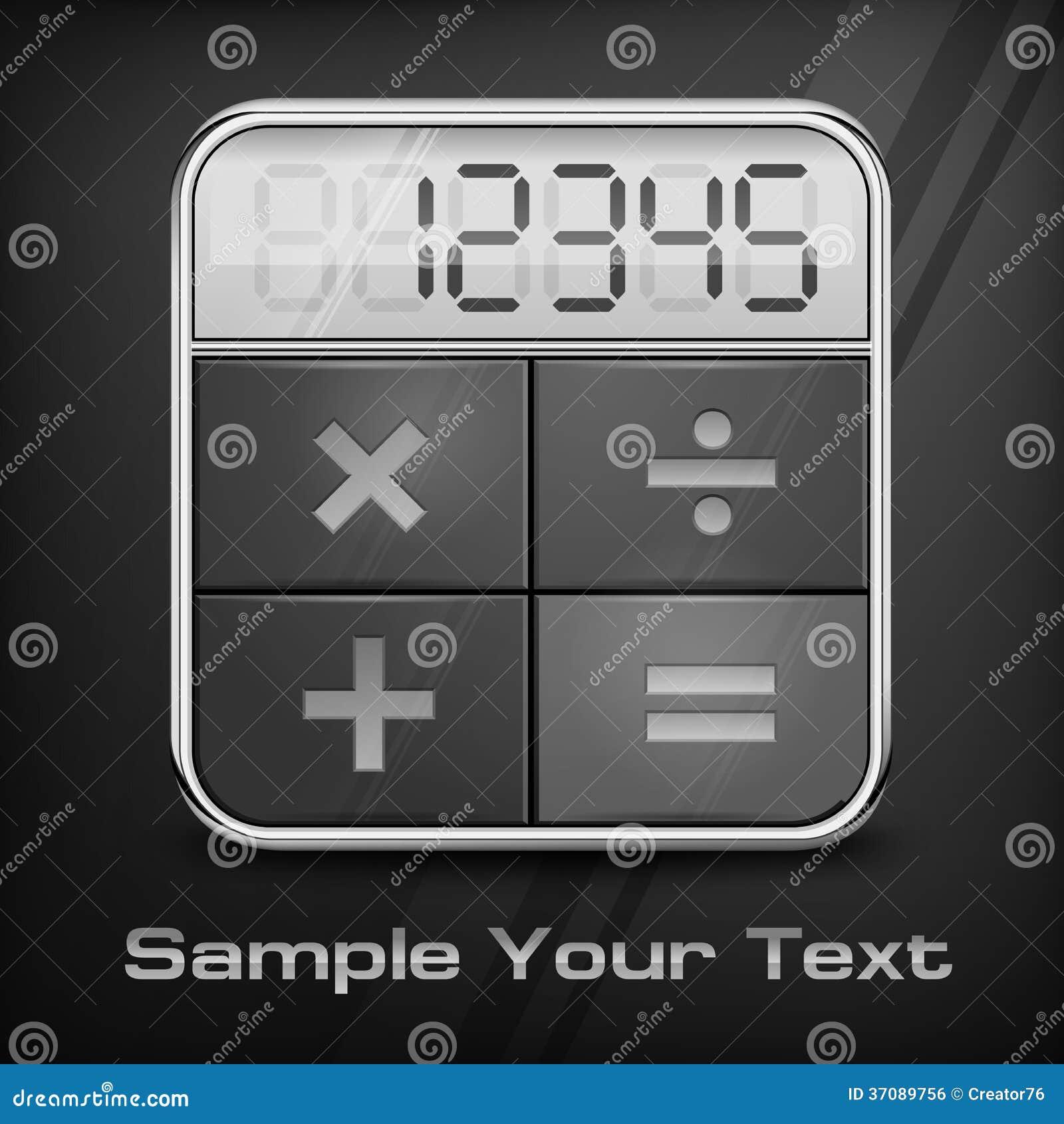 Download Kieszeniowy Kalkulator Na Czerni Ilustracja Wektor - Ilustracja złożonej z guzik, biznes: 37089756