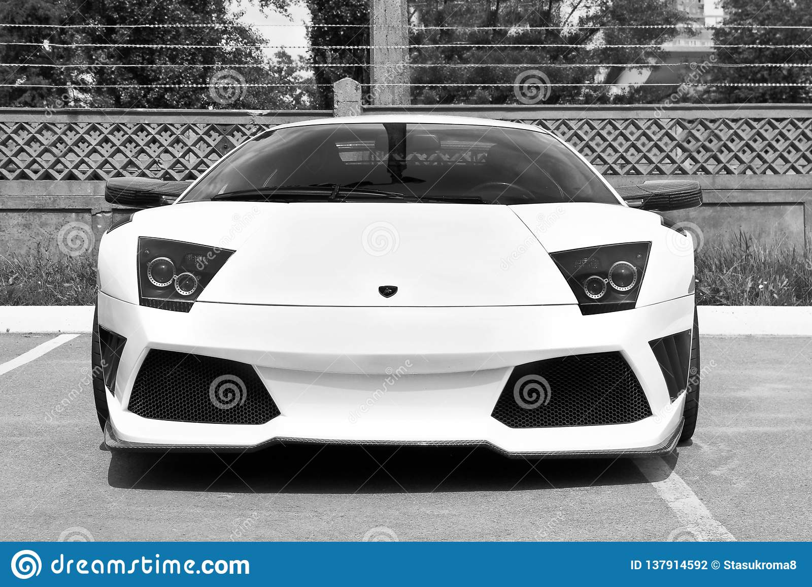 Kiev, Ucraina; 12 maggio 2013 Lamborghini Murcielago IMSA