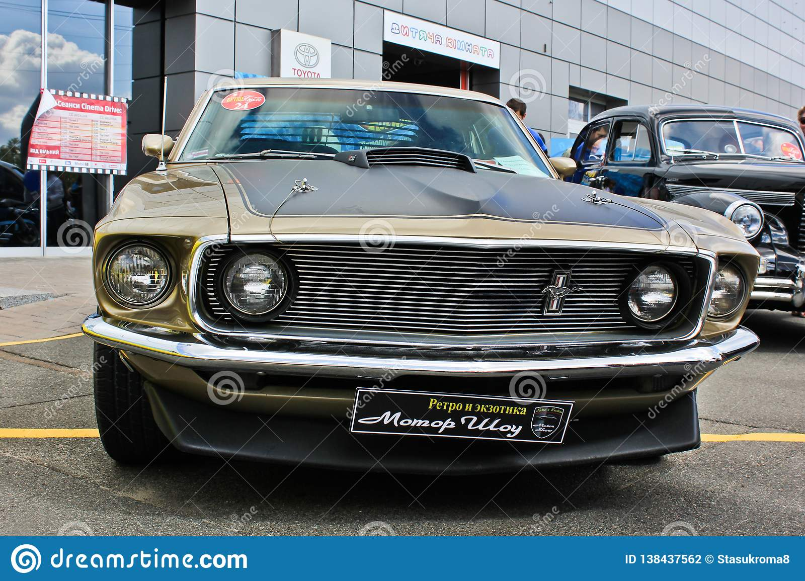 2018 Mustang Mach 1 >> Kiev Ukraine April 10 2018 Ford Mustang Mach 1 1969