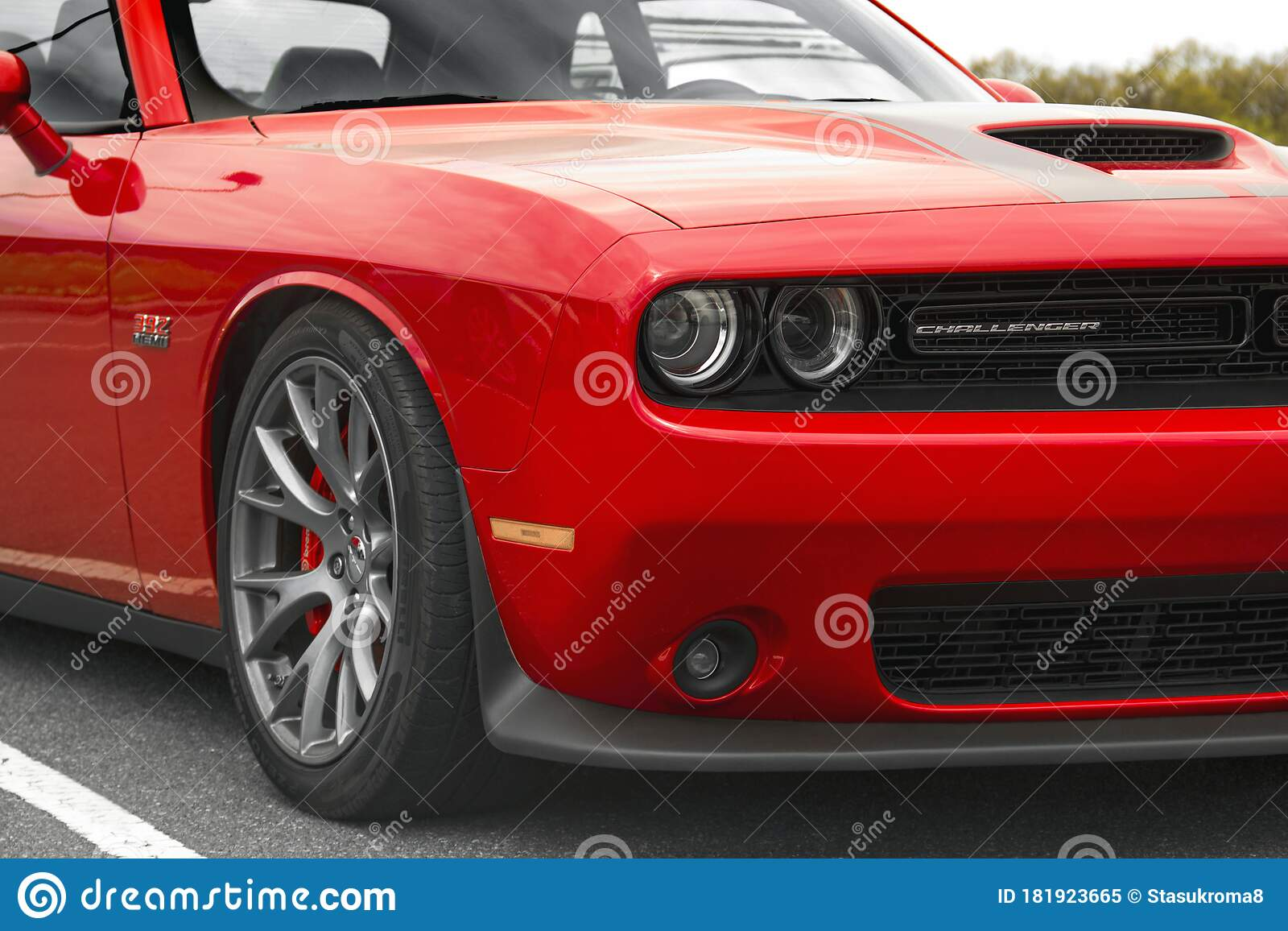 Kiev Ukraine April 21 2020 Muscle Car Dodge Challenger Srt8 392 Hemi Front Of The Car Close Up Red Car Editorial Image Image Of Headlight Exhaust 181923665