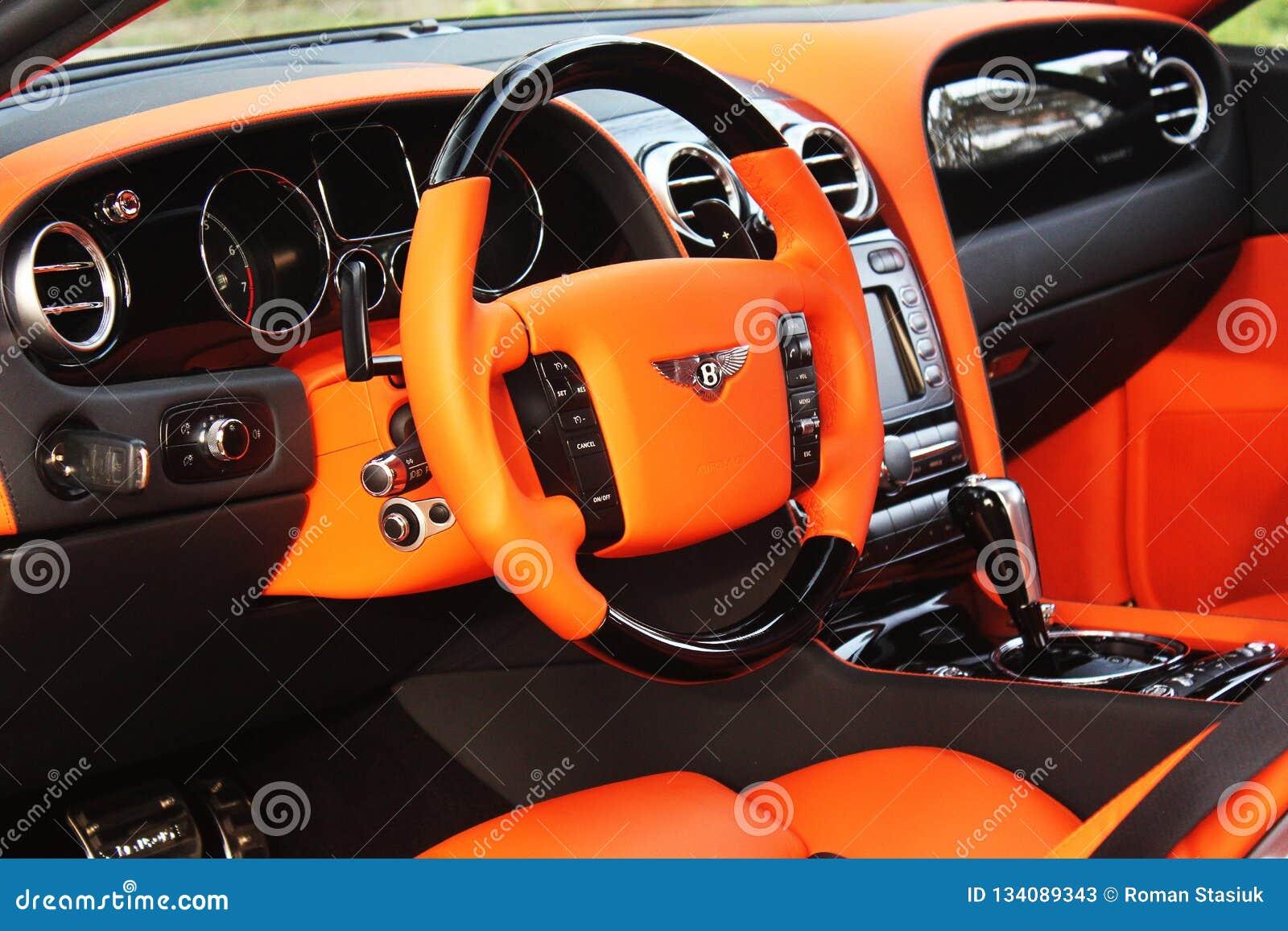 Kiev Ukraine April 20 2014 Salon Bentley Continental Gt Le Mansory Orange Editorial Stock Photo Image Of Continental Luxury 134089343