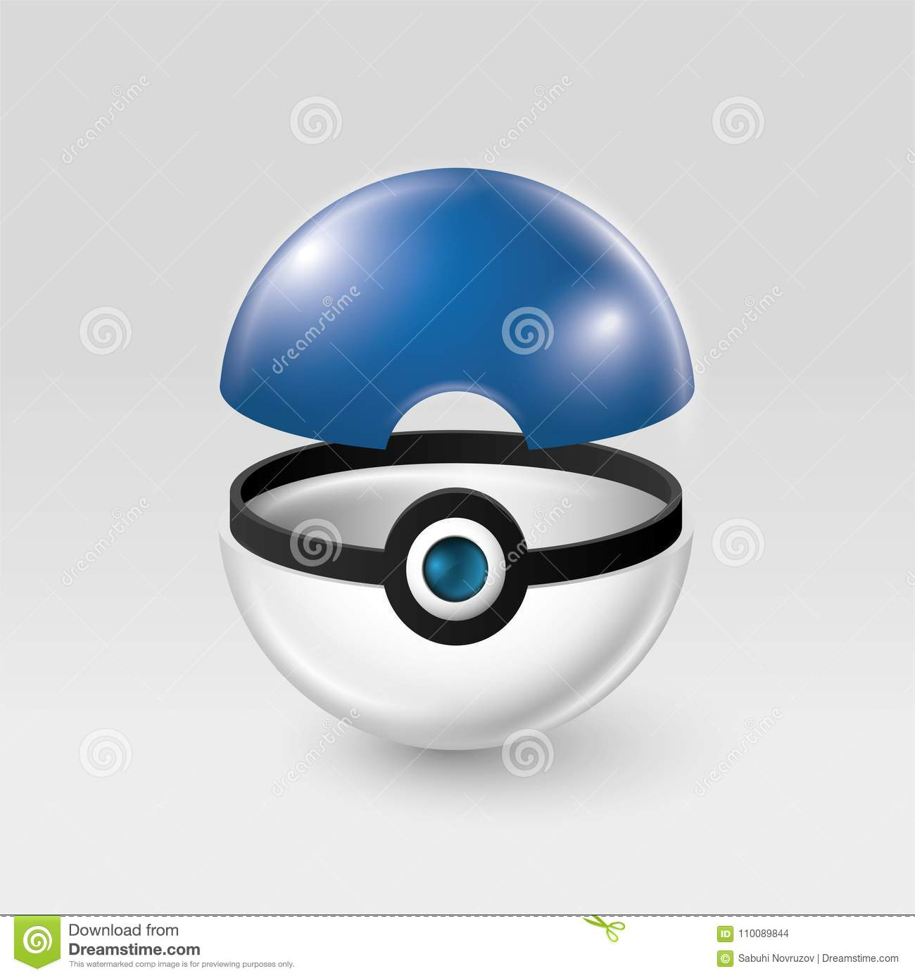 Poke Ball In Blue And White Colors With Point From The Pokemon Go Incubator That Will Hatch Into A