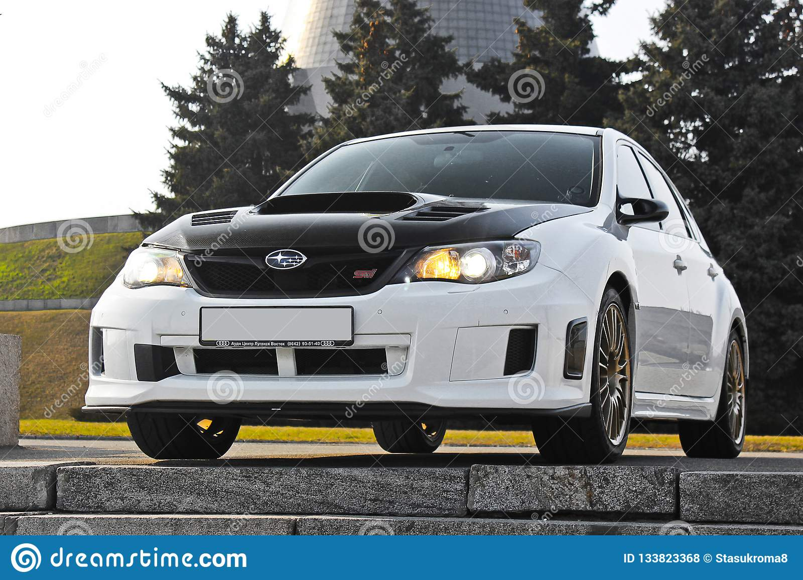 Kiev, Ukraine; January 20, 2014. Subaru Impreza WRX STI