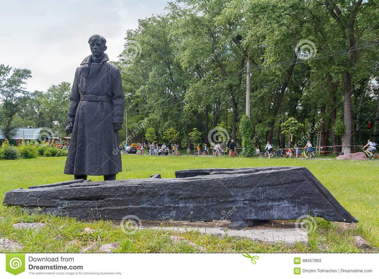 Kiev, Ukraine - June 12, 2016: Monument to the Red Army soldier