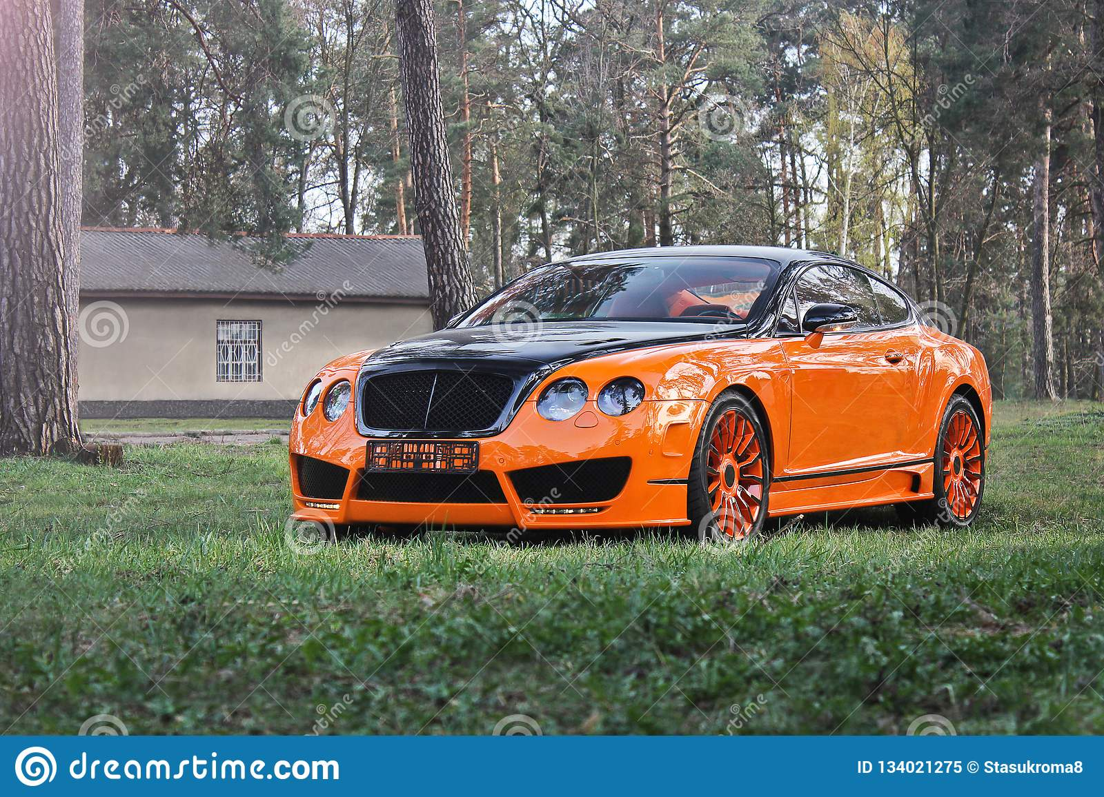 Kiev, Ukraine ; Le 10 avril 2015 Bentley GT continental