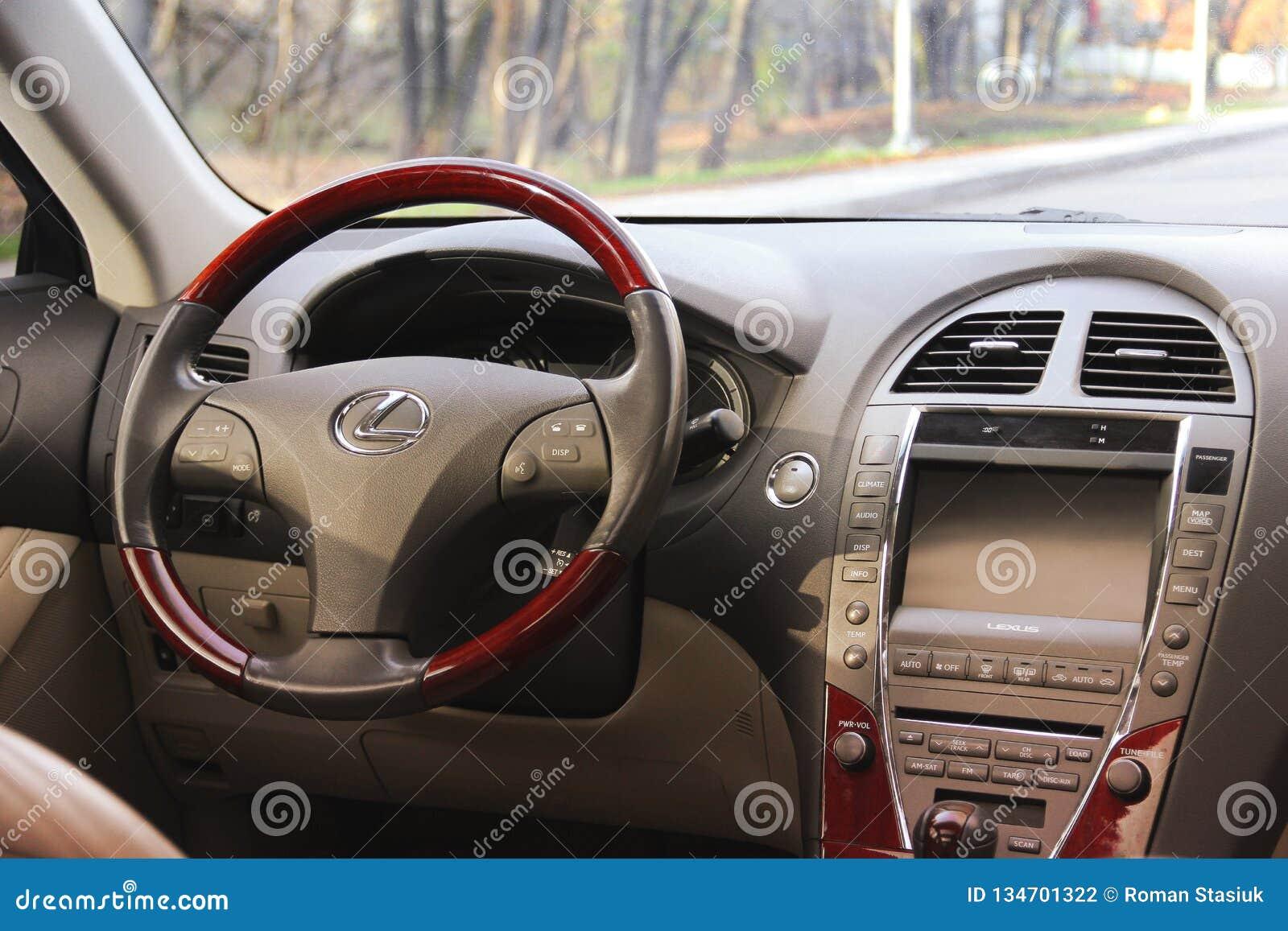 Kiev Ukraine November 5 2018 Lexus Car Interior Car Dashboard