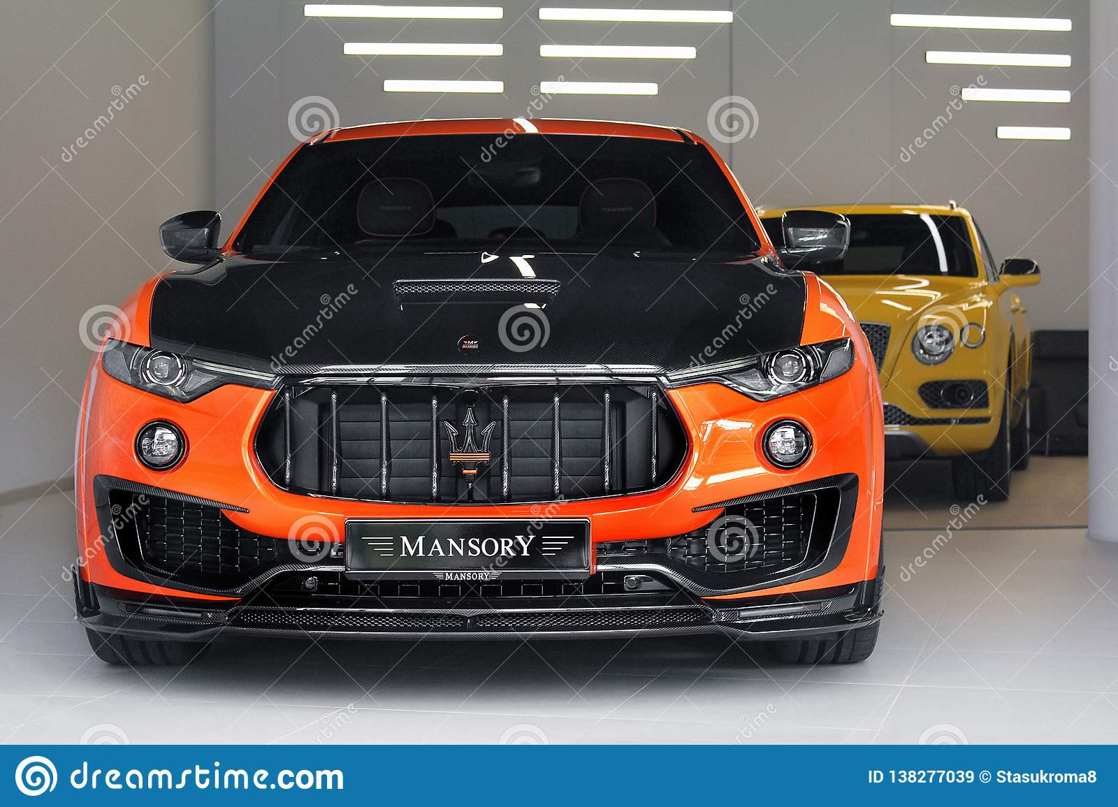 Kiev Ukraine November 17 2017 View From Above Mansory Maserati Levante On The Background Of Bentley Bentayga Mansory Editorial Stock Image Image Of Mansory Glass 138277039