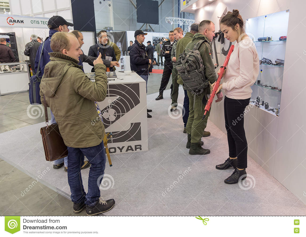 Small Exhibition Stand Near Me : Kiev ukraine october  visitors specialized