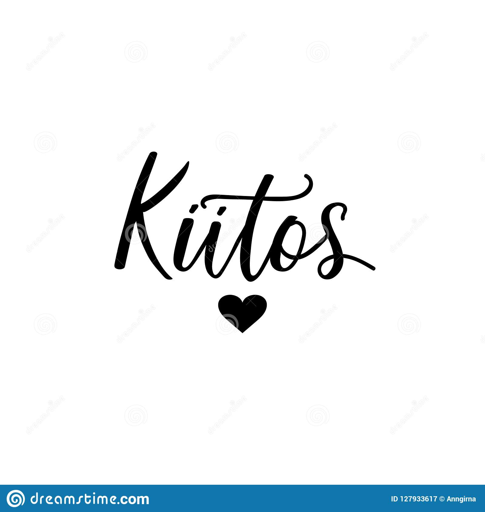 Kiitos Thank You Lettering Card Translation From Finnish Thank
