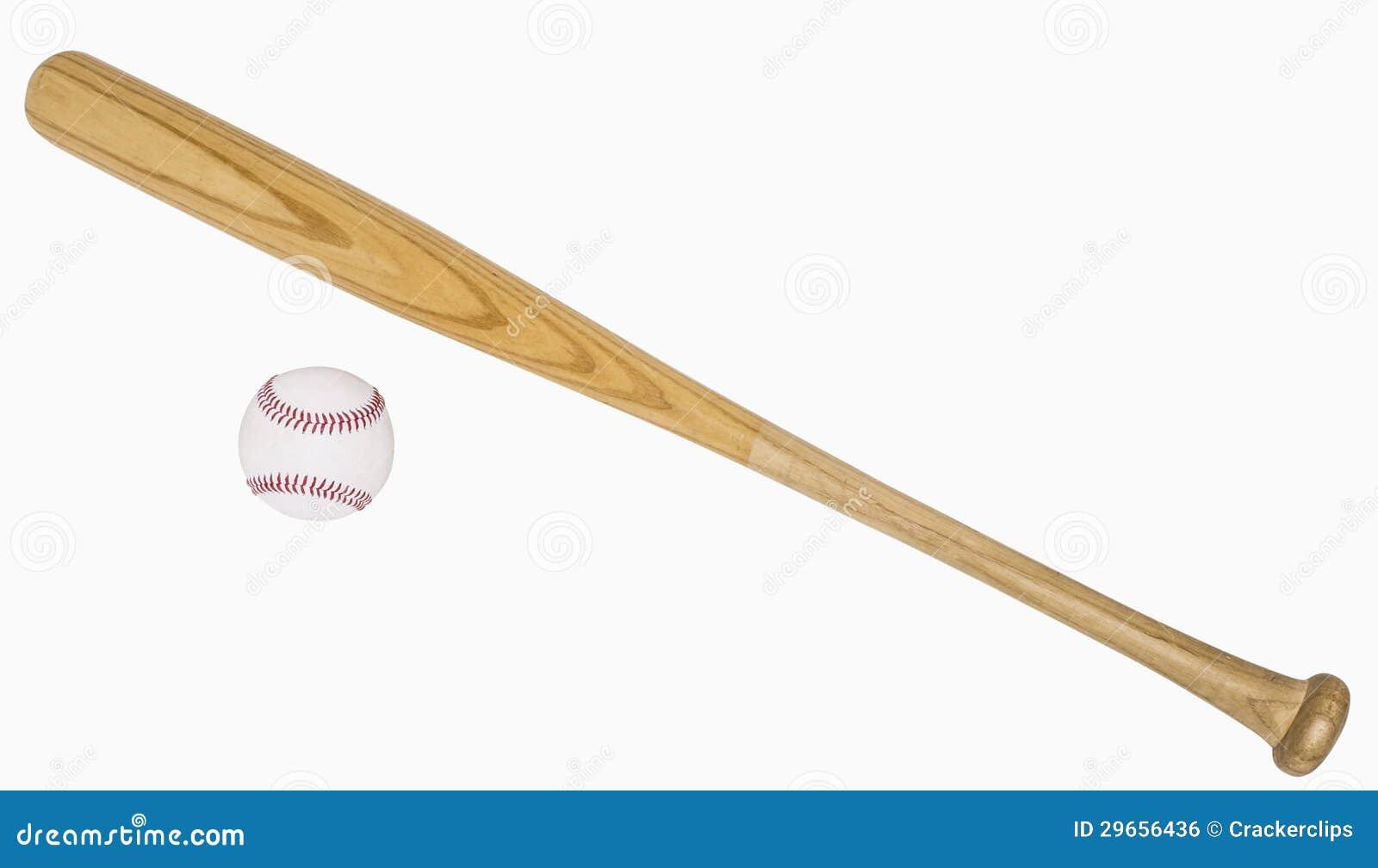 Kij Bejsbolowy I Baseball Zdjecie Stock Obraz Zlozonej Z Scinek