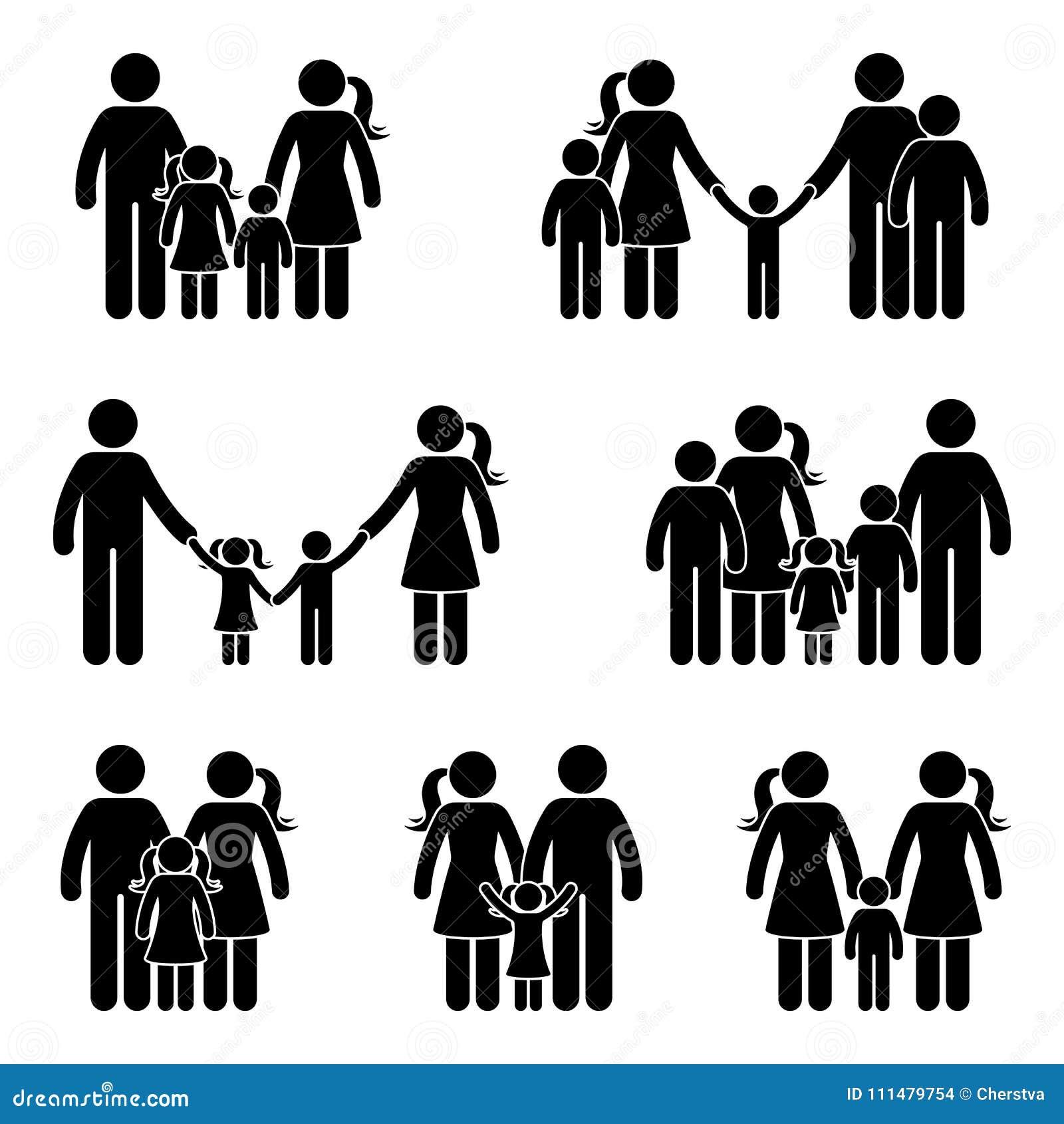 Kij postaci ikony rodzinny set