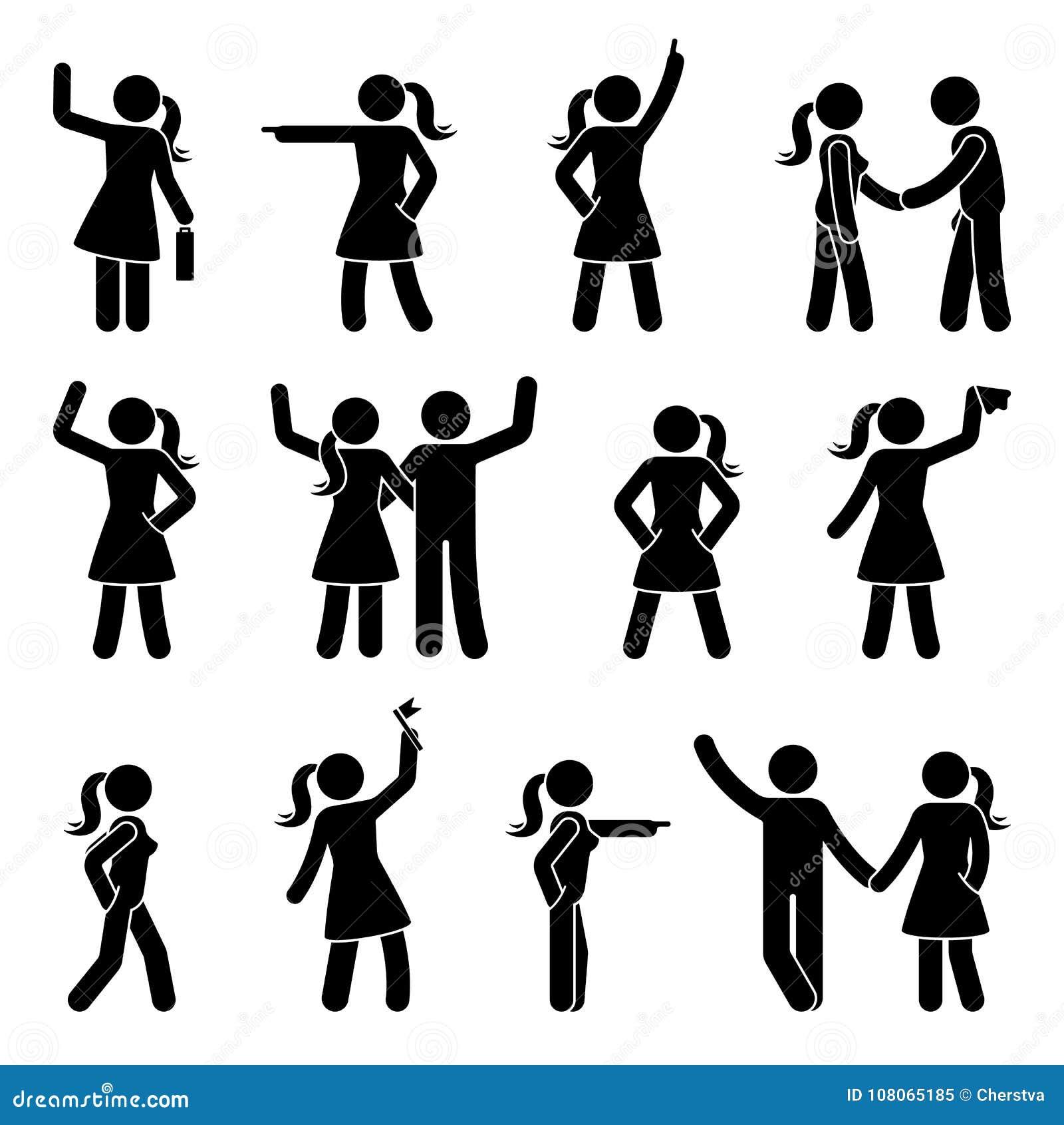 Kij postaci ręk pozyci różny set Wskazujący palec, ręki w kieszeniach, macha osoby ikony postury symbolu znaka piktogram
