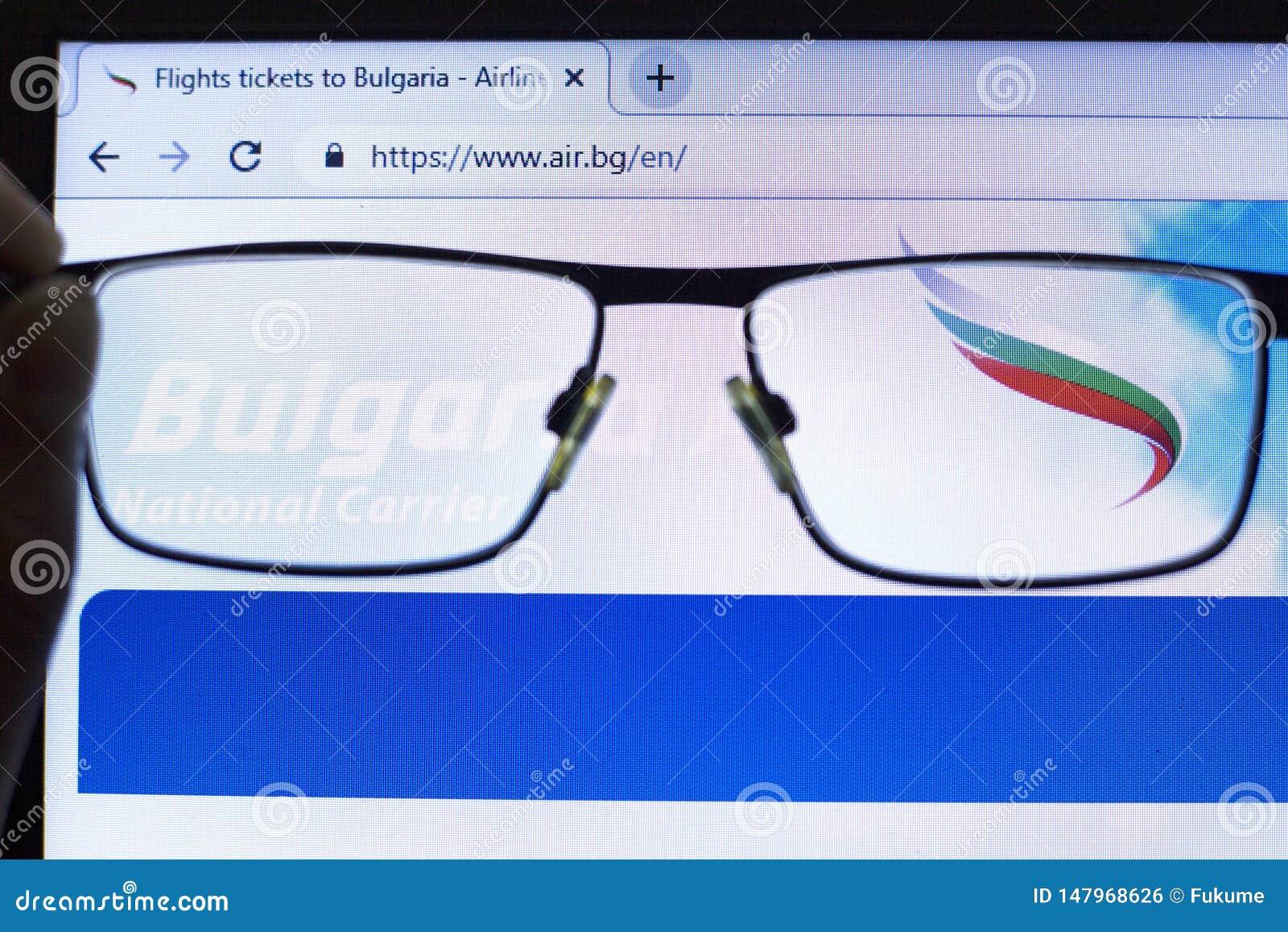 Kij?w, Ukraina 05 17 2019: Bułgaria AirPassenger linii lotniczej ikony Illustrative artykuł wstępny