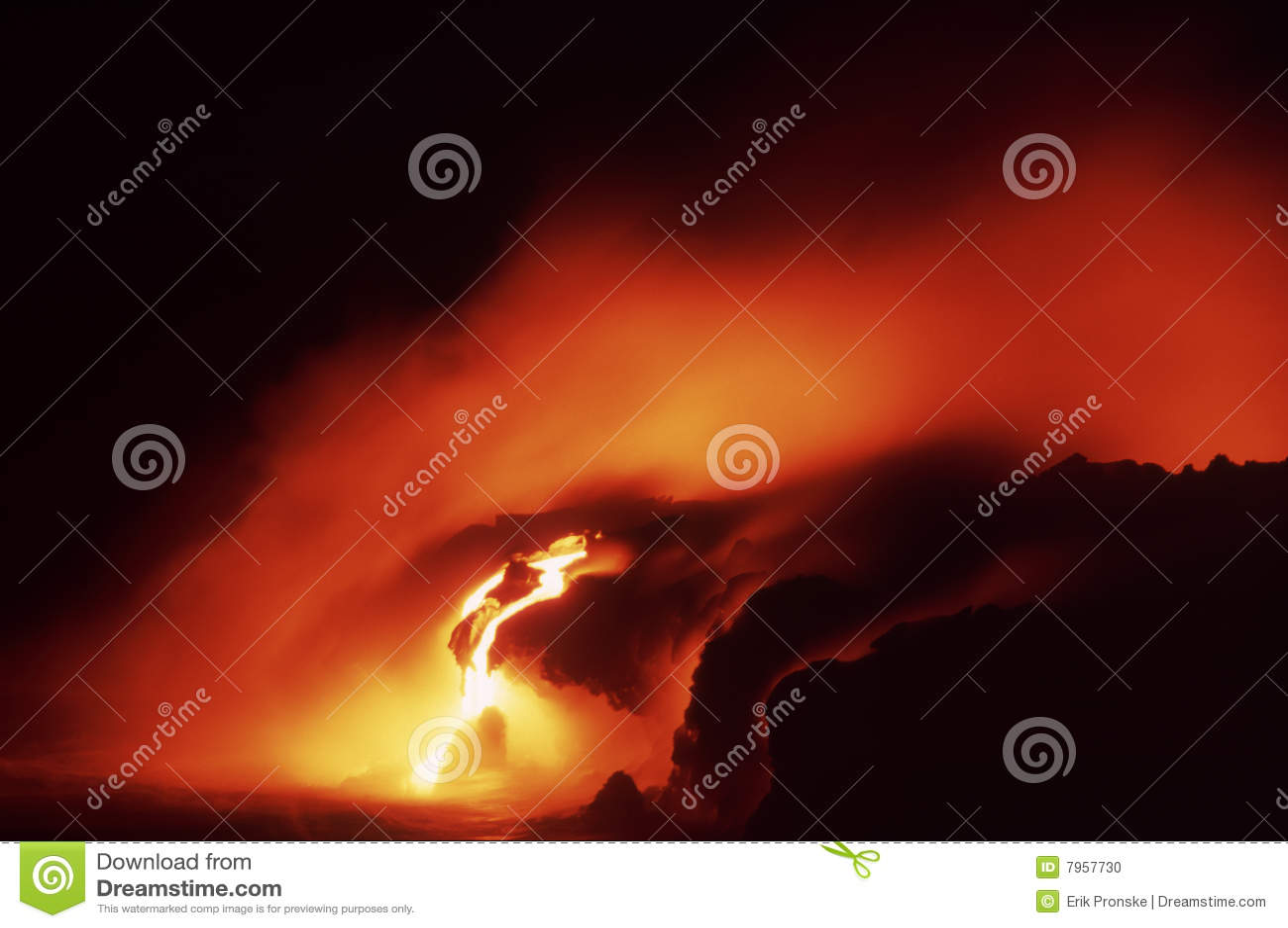 Kilauea Lava-Fluss
