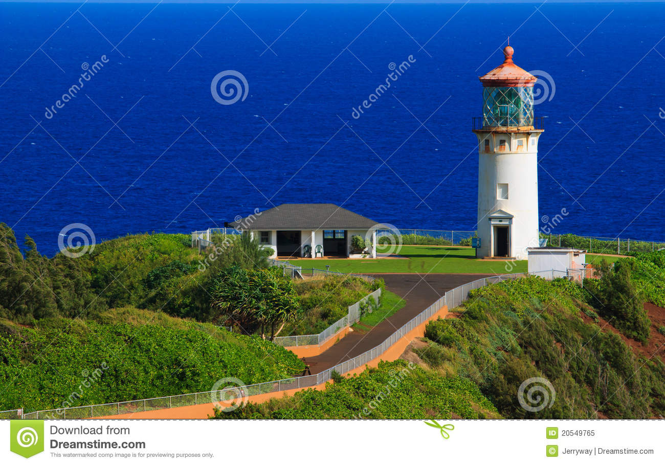 Kilauea Lighthouse, Kauai Hawaii Royalty Free Stock Photo - Image ...