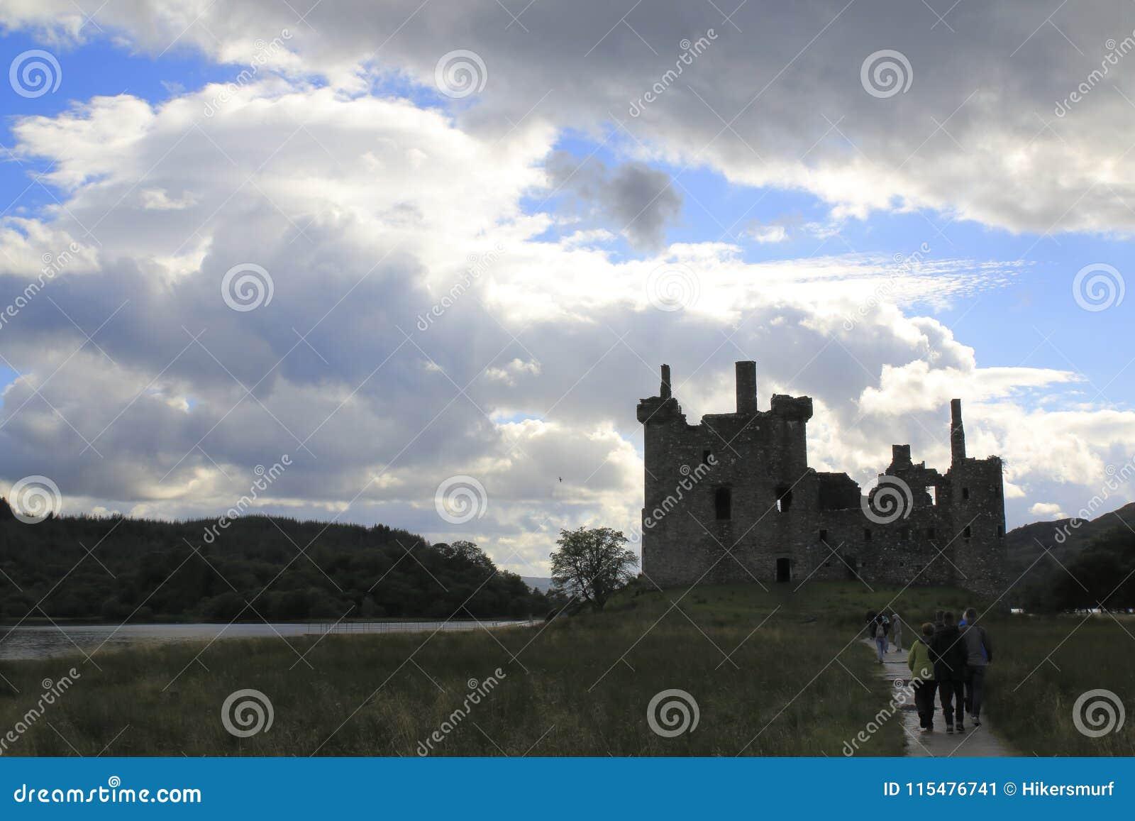 Kilchurn Castle, καταστροφή κάστρων στο δέο λιμνών, στο Χάιλαντς της Σκωτίας