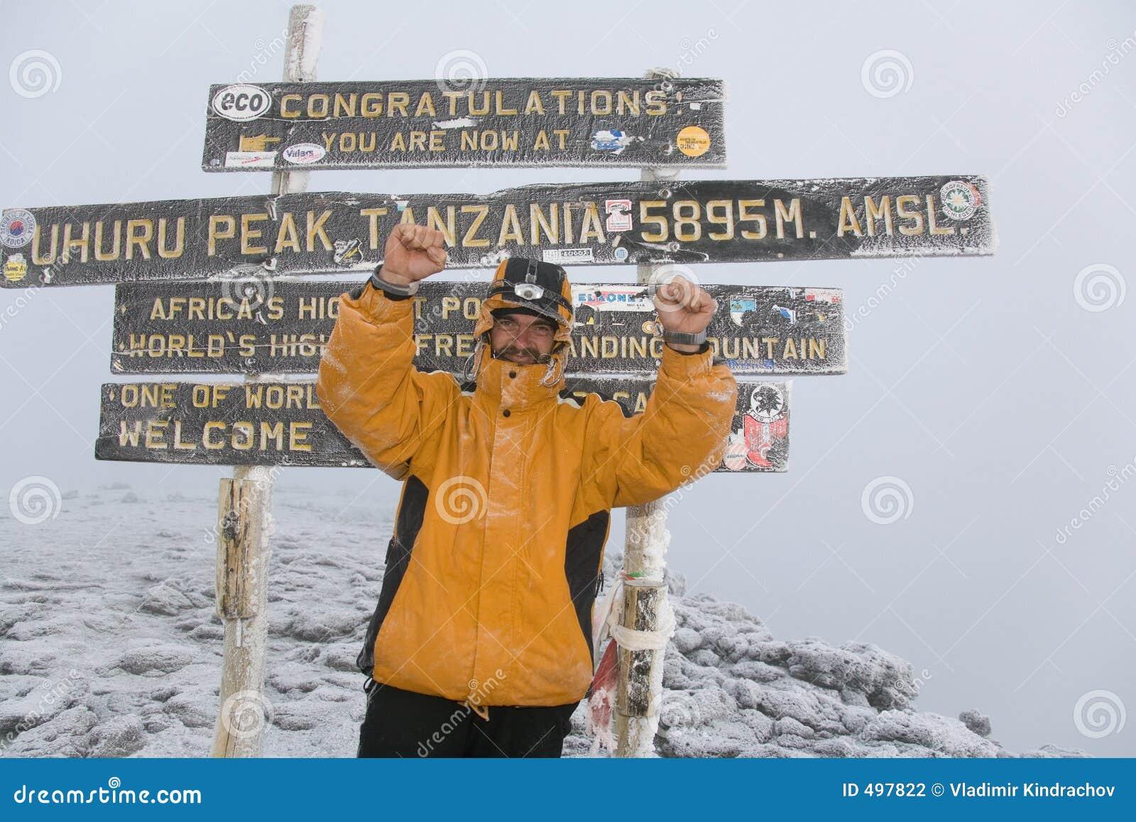 Kilimanjaro 029 summit stock photo. Image of hiking 13832c3a64