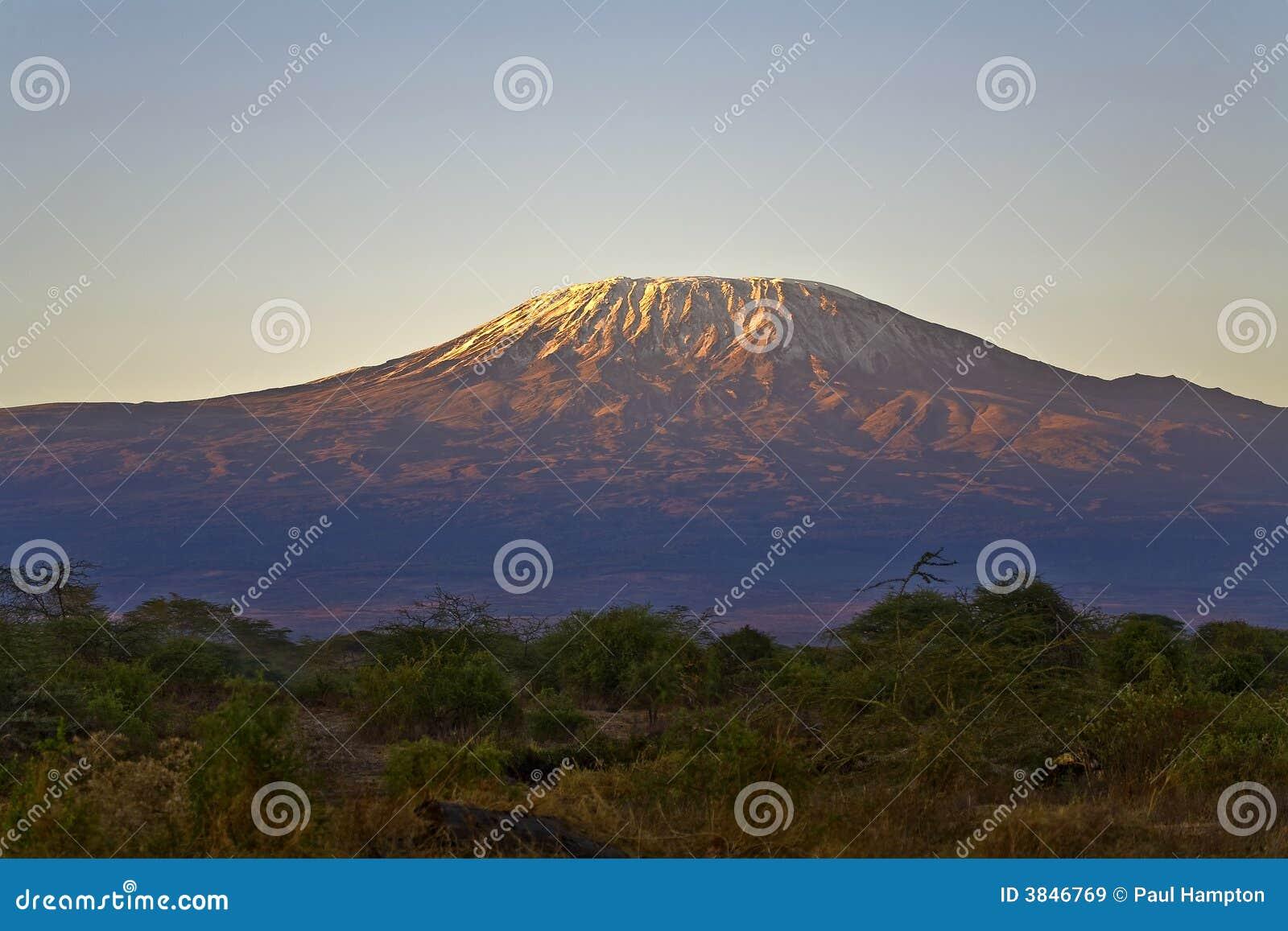 Kilimanjaro Mountain Morning Tanzania Kenya Africa