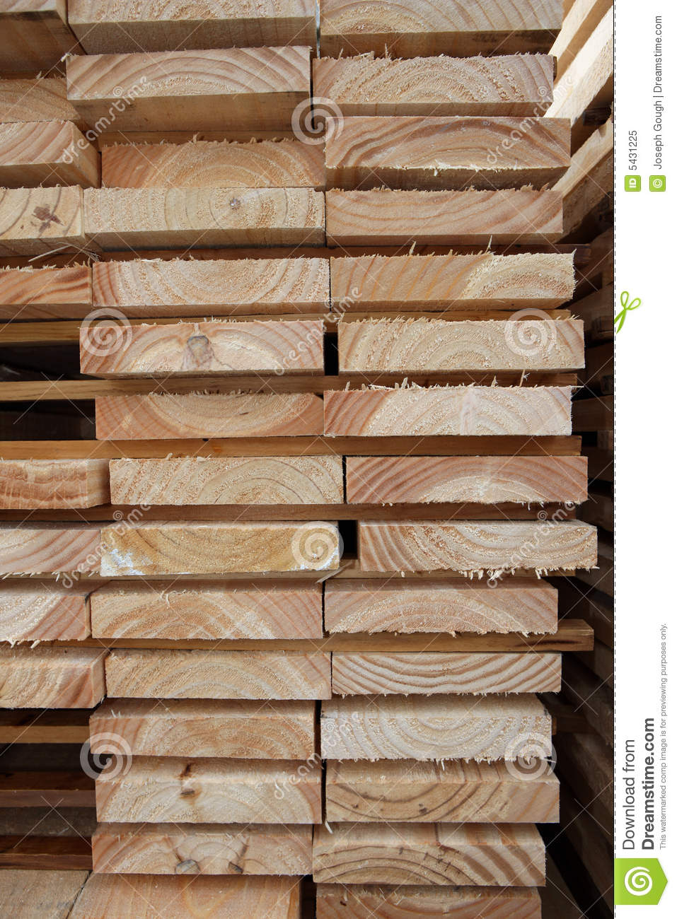 Kiln-Dried Timber Planks stock image. Image of vertical